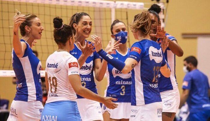 Minas vence Sesi Bauru e lidera semifinal da Superliga feminina de vôlei