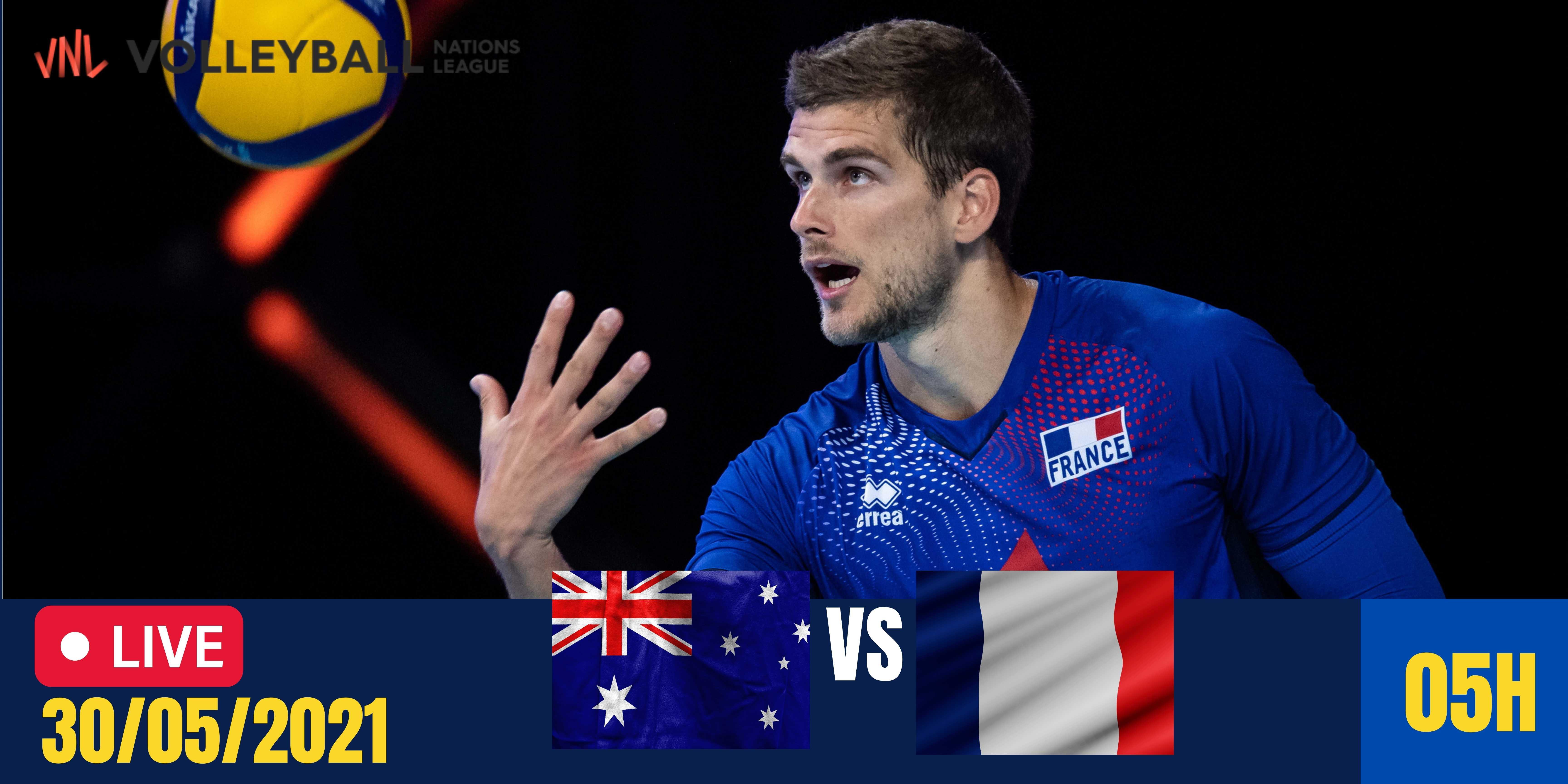 Resultado: Austrália vs França – Liga das Nações Masculina – 30/05/2021