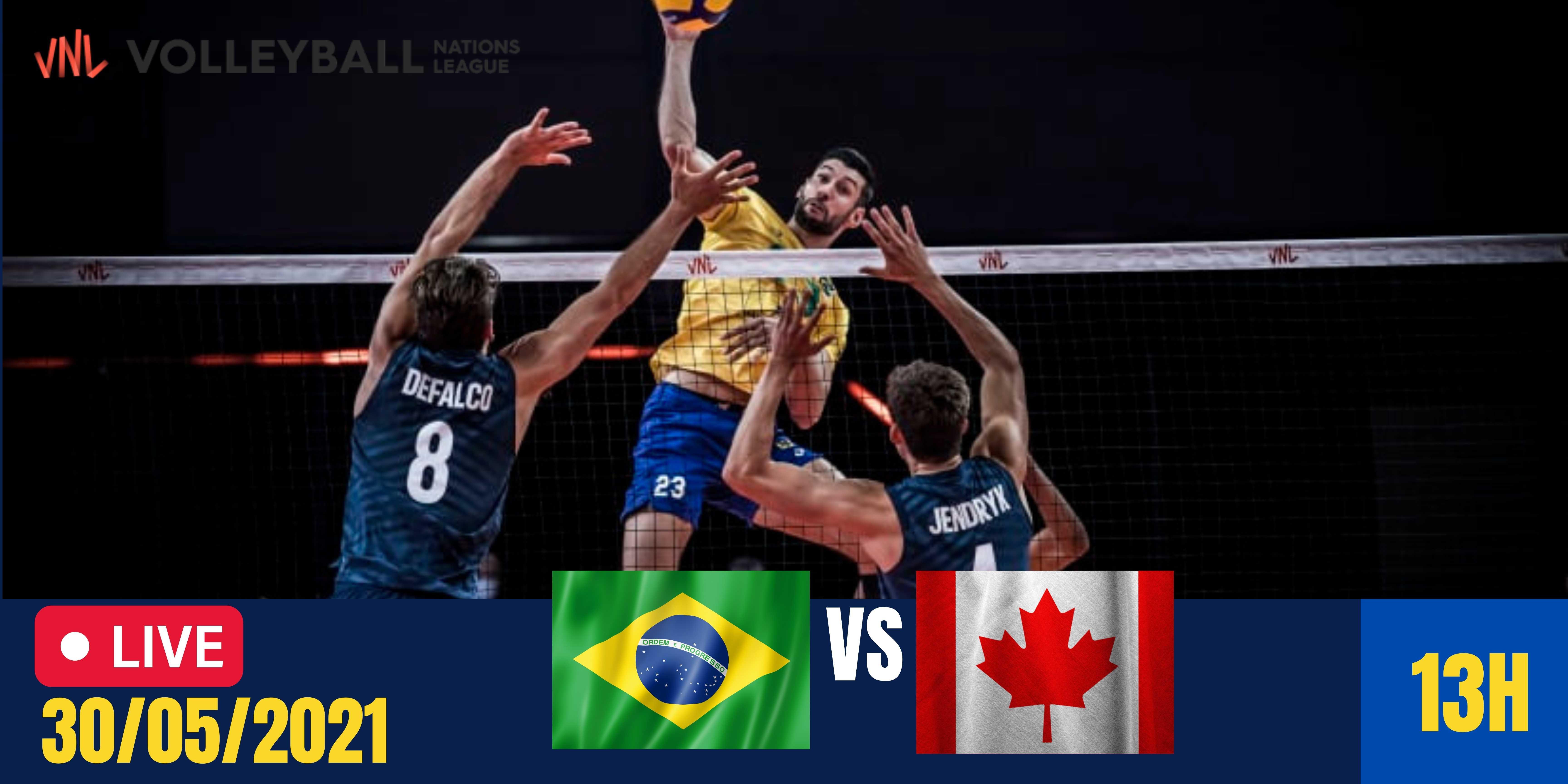 Resultado: Brasil vs Canadá – Liga das Nações Masculina – 30/05/2021