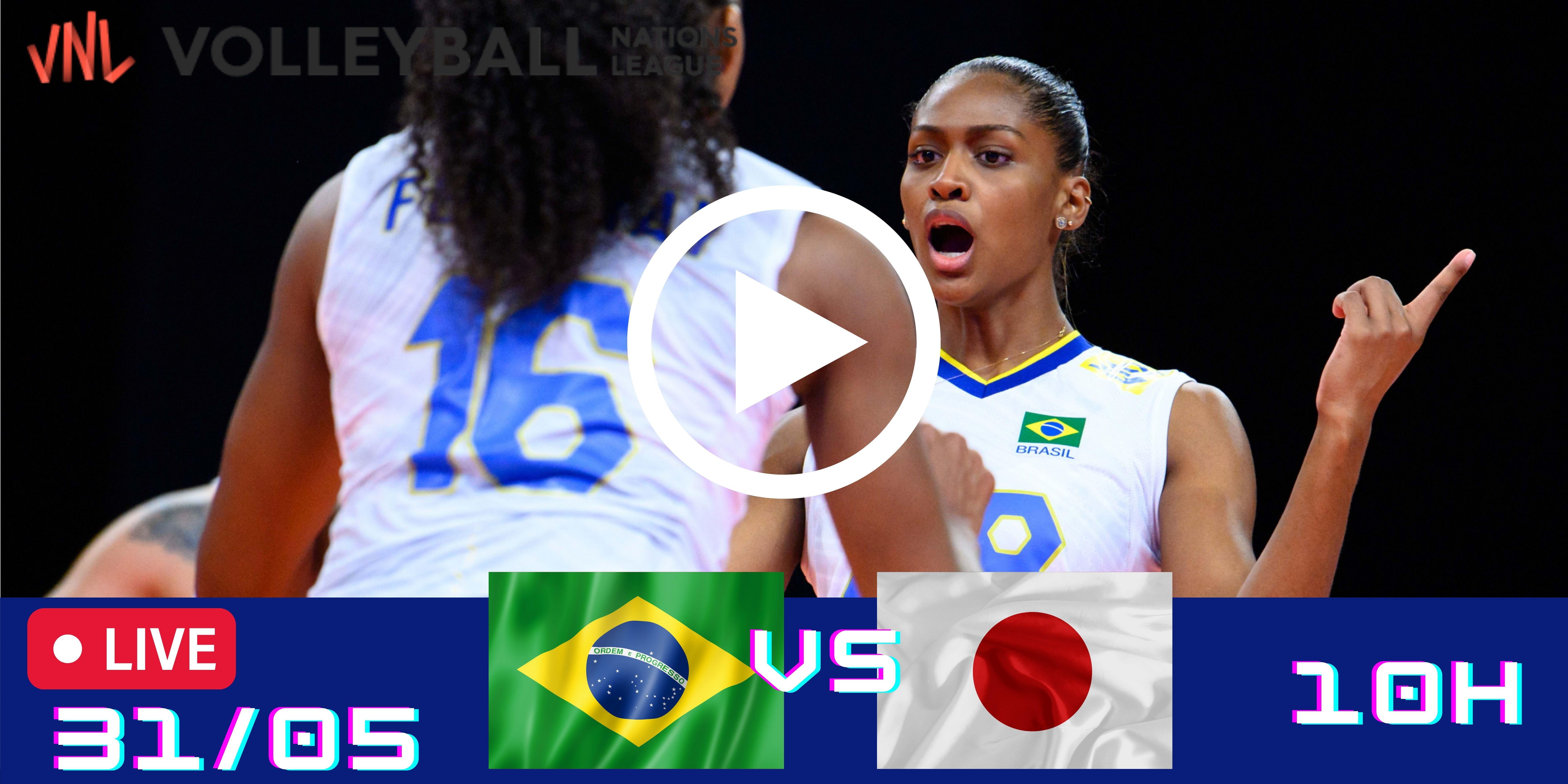 Gravado: Brasil vs Japão – Liga das Nações – 31/05/2021