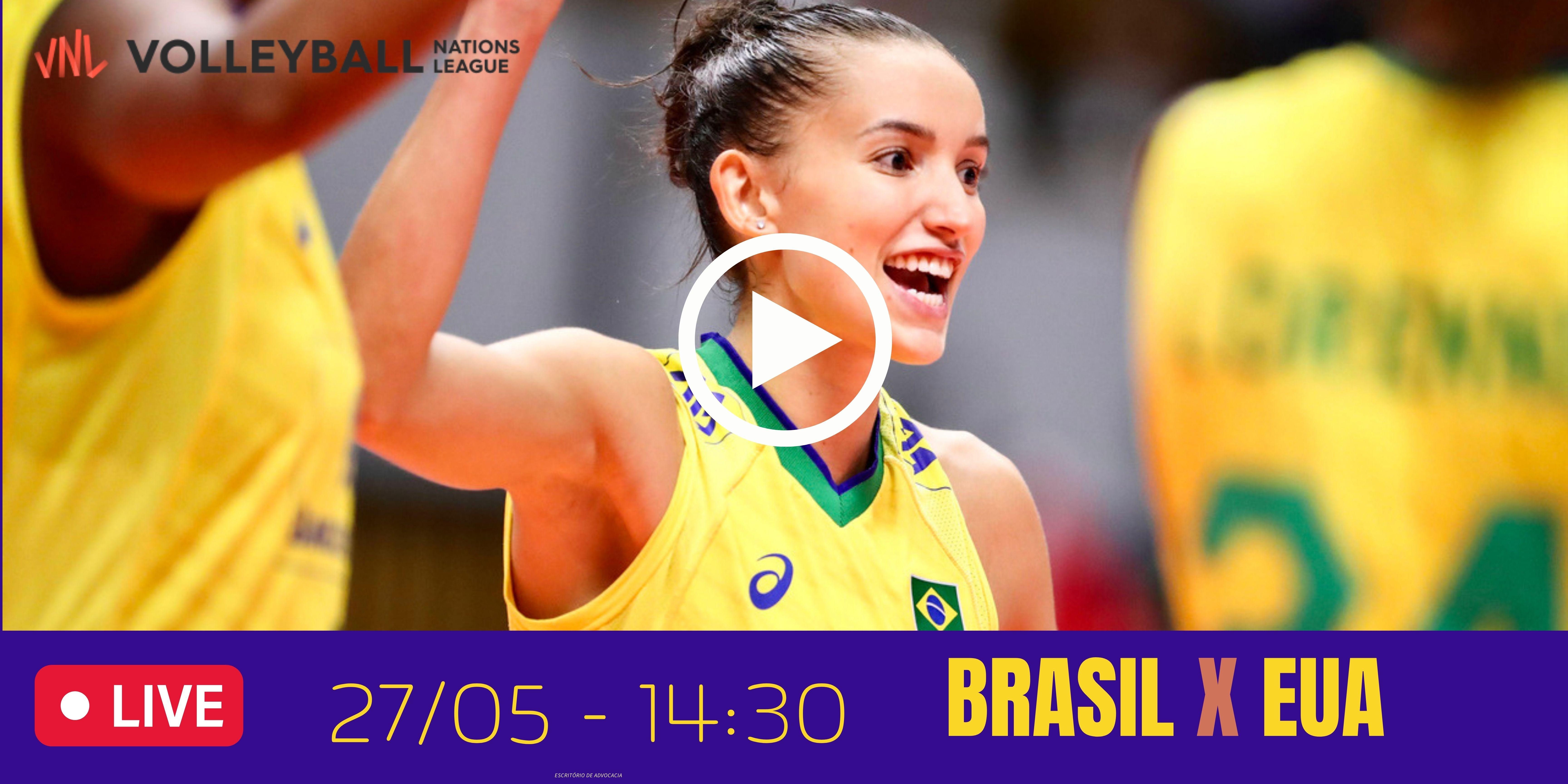 Brasil vs EUA – Liga das Nações – 27/05/2021