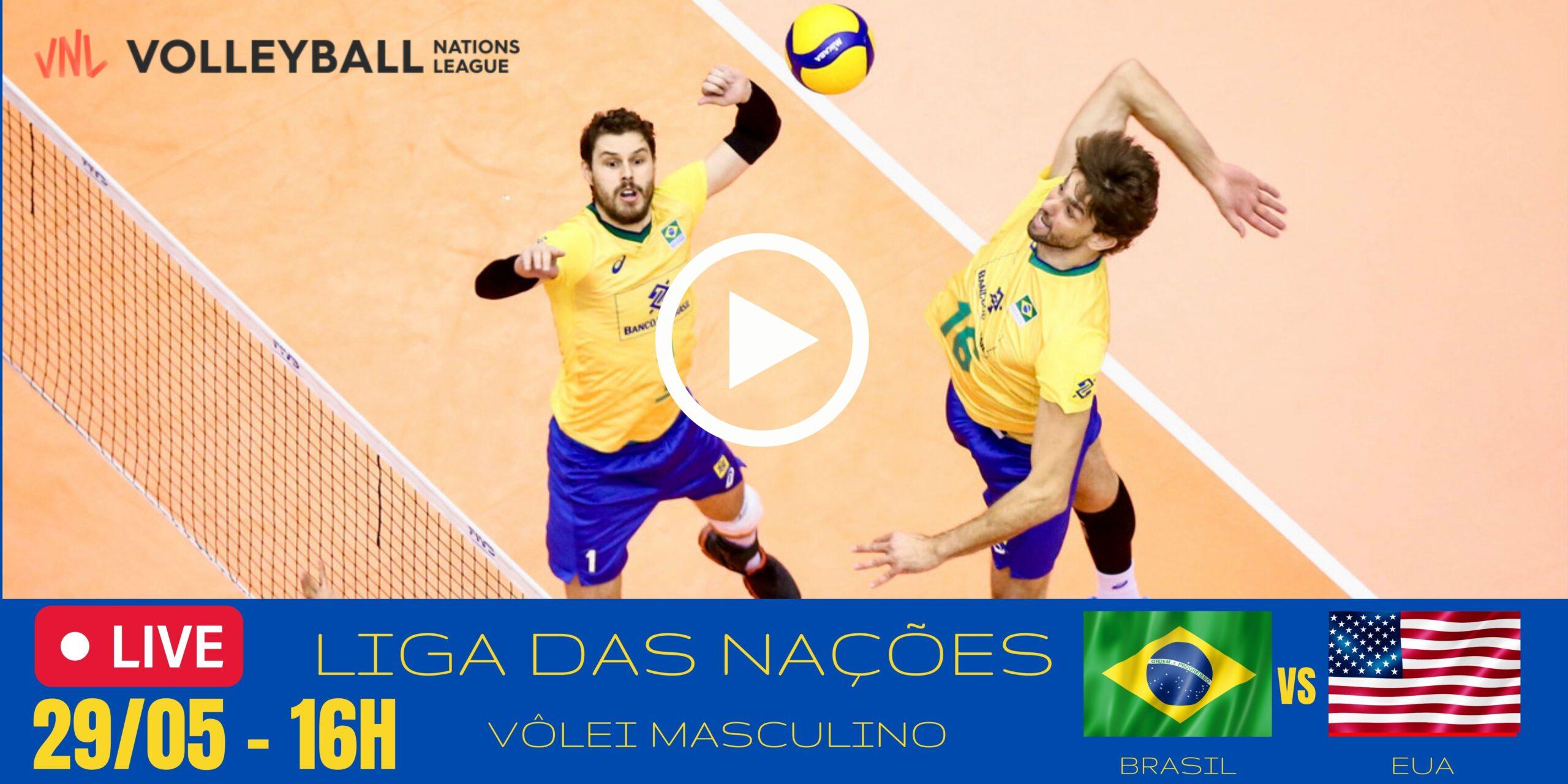 Brasil vs EUA – Liga das Nações Masculina – 29/05/2021