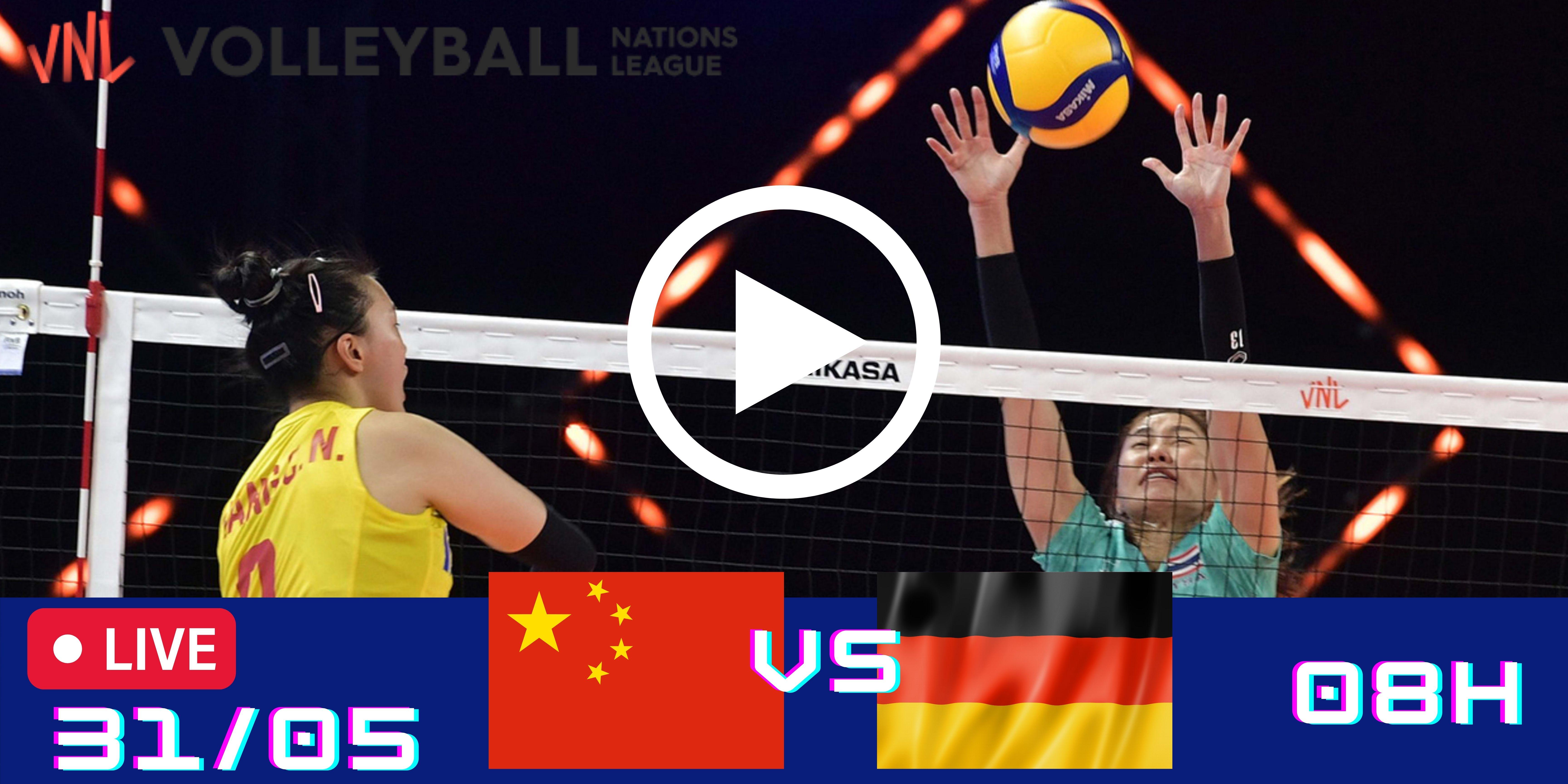 Resultado: China vs Alemanha – Liga das Nações – 31/05 – 08h