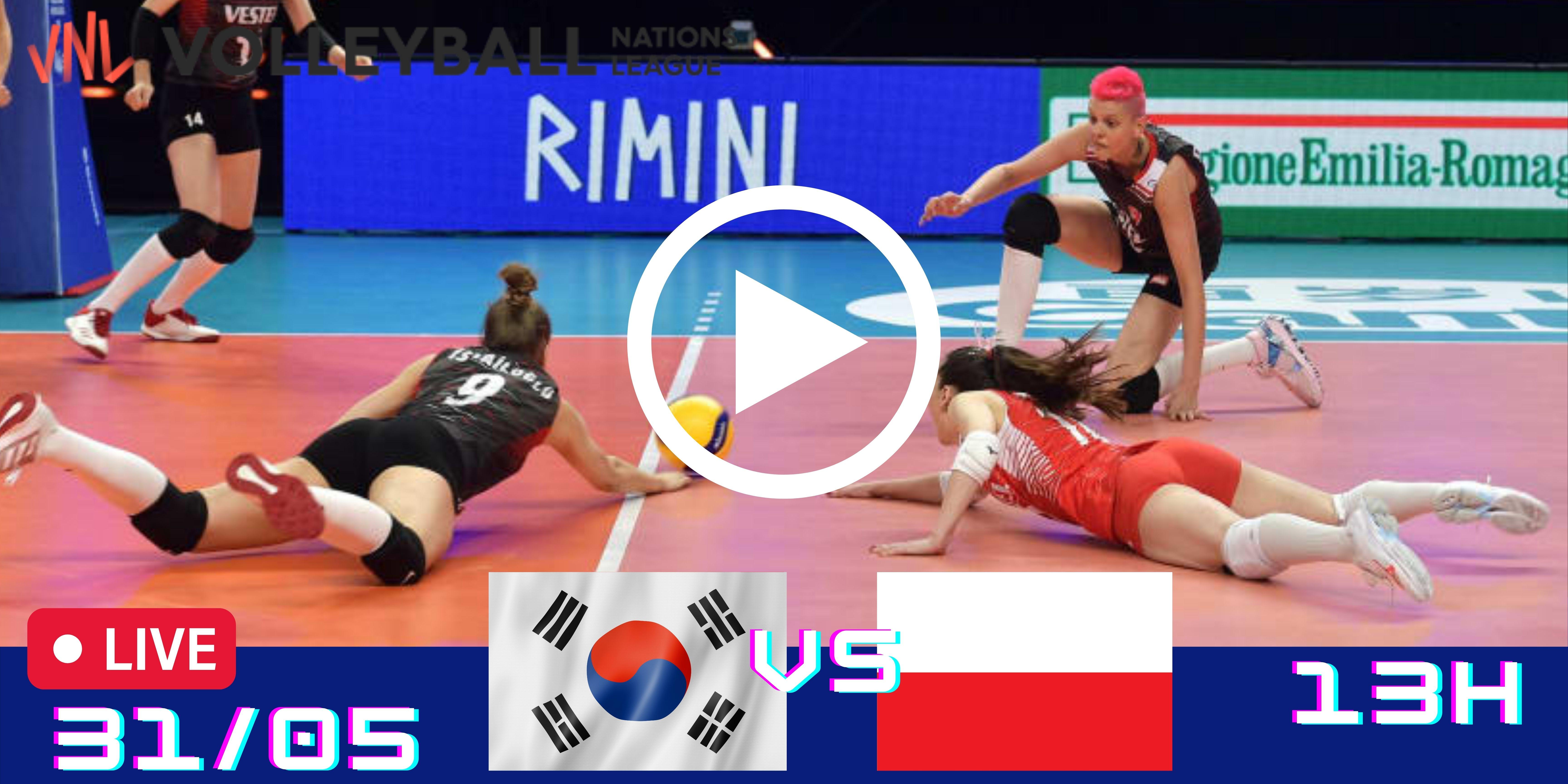 Resultado: Coreia do Sul vs Polônia – Liga das Nações – 31/05/2021