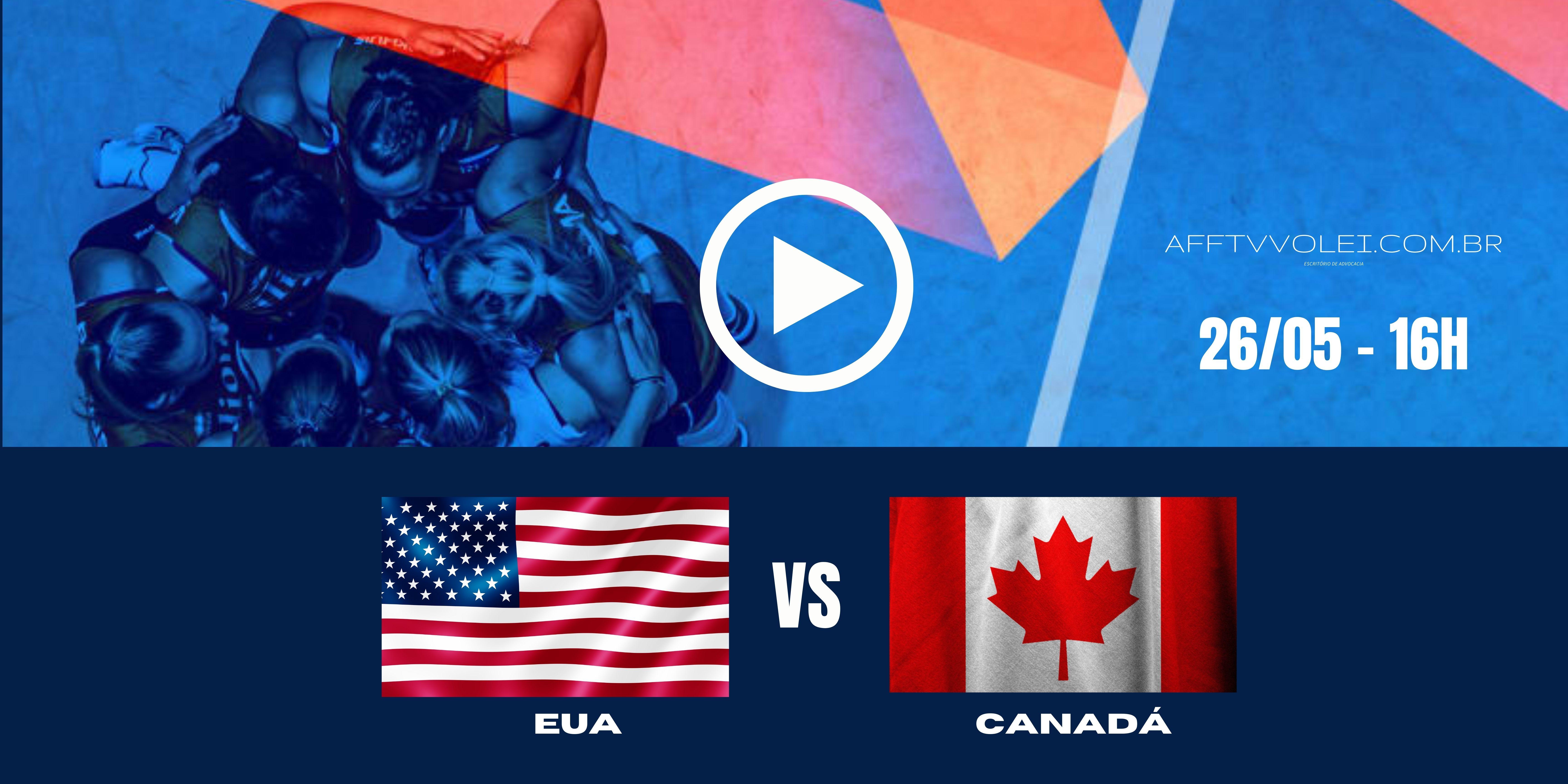 EUA vs Canadá – Liga das Nações – 26/05/2021