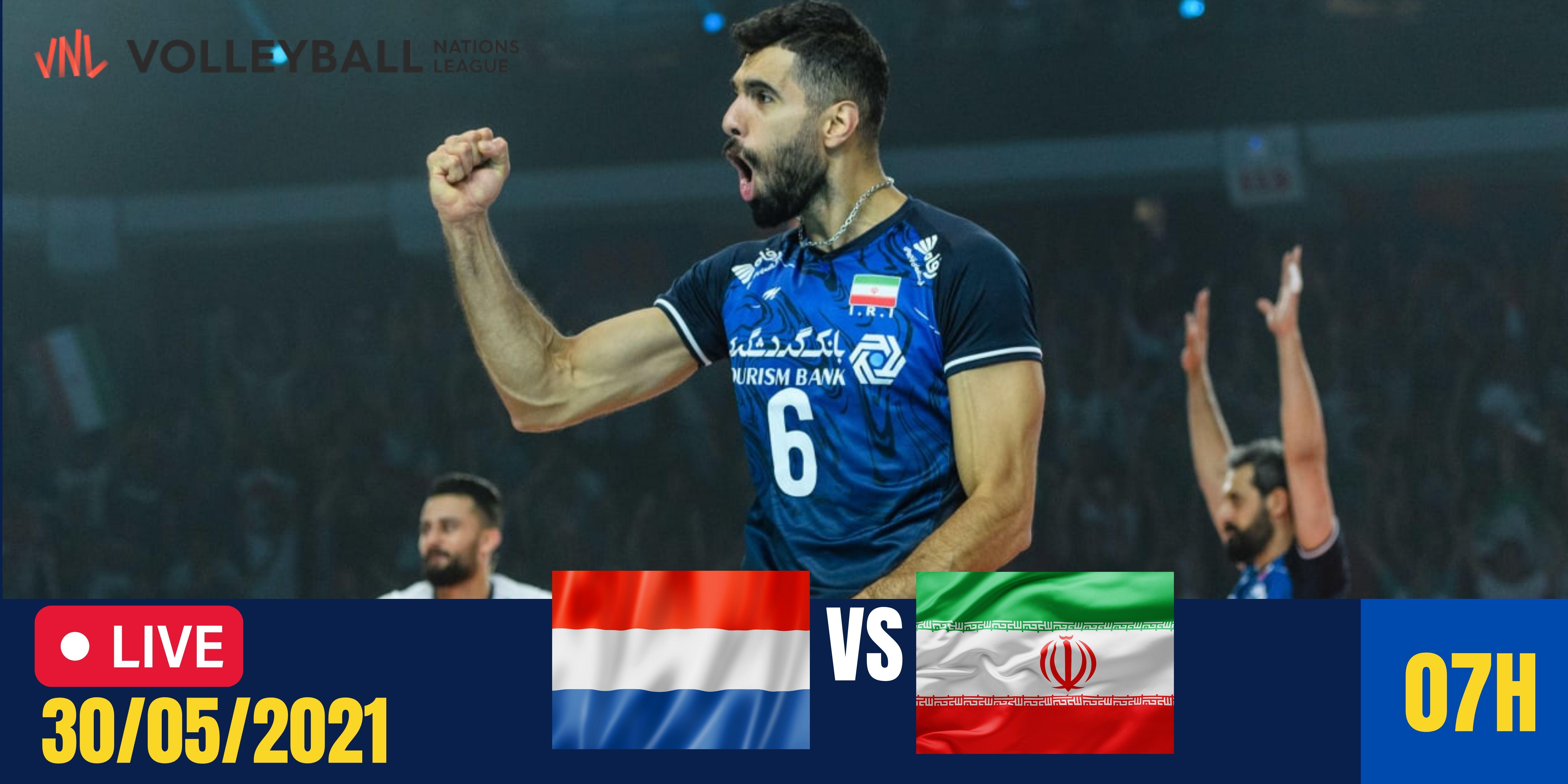 Resultado: Holanda vs Irã – Liga das Nações Masculina – 30/05/2021