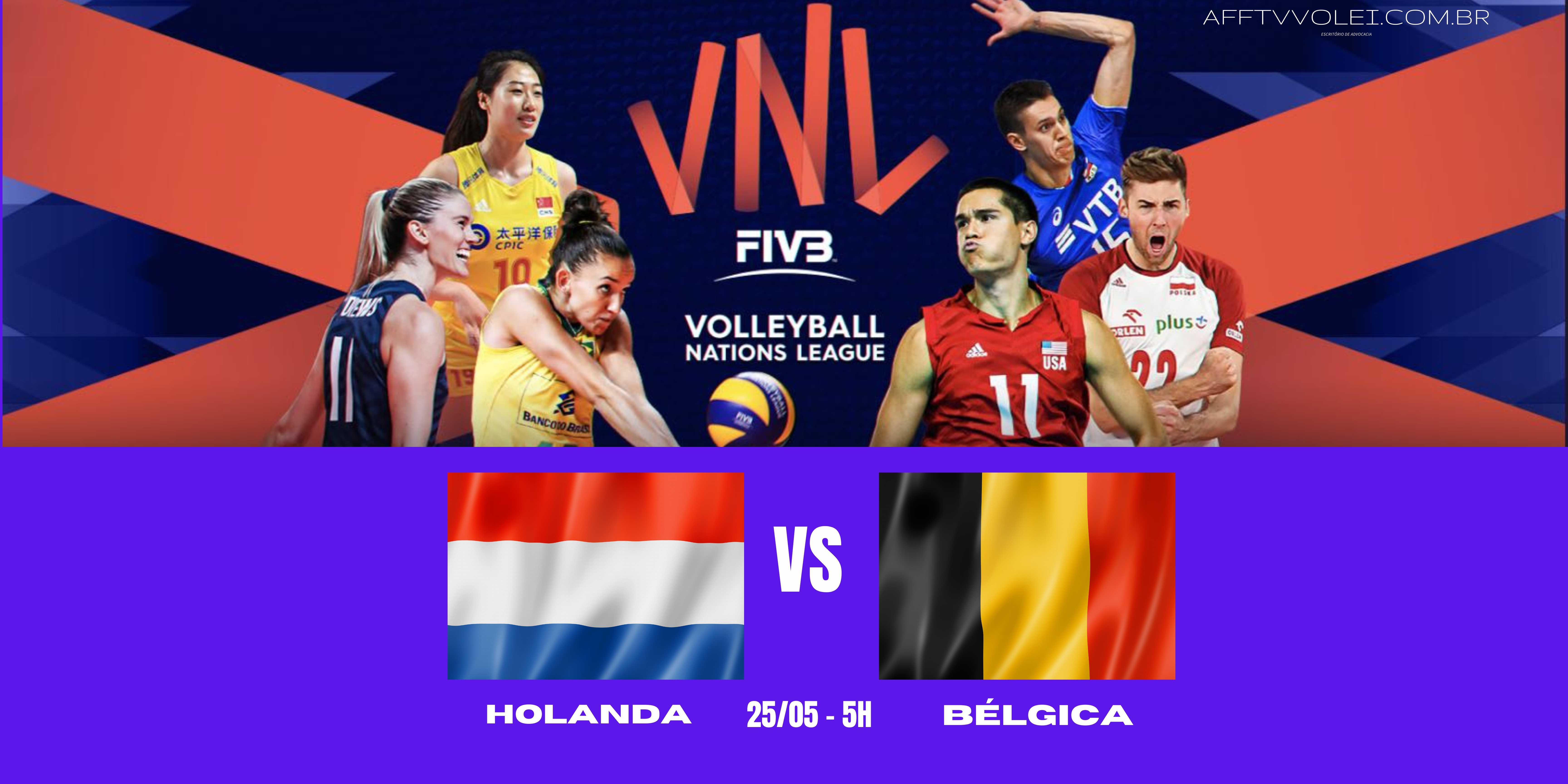 Holanda vs Belgica – Liga das Nações Vôlei Feminino – 25/05/2021