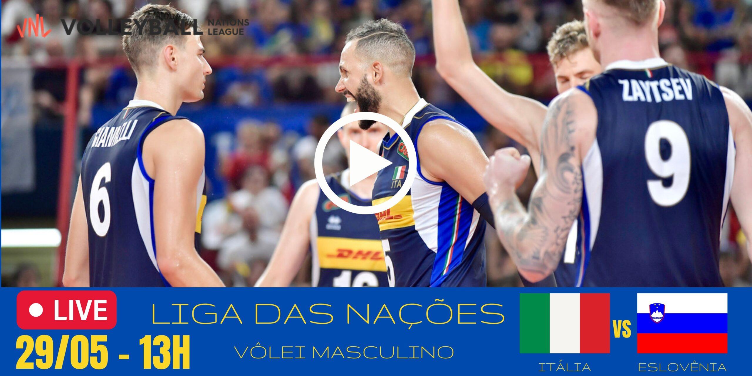 Itália vs Eslovênia – Liga das Nações Masculina – 29/05/2021