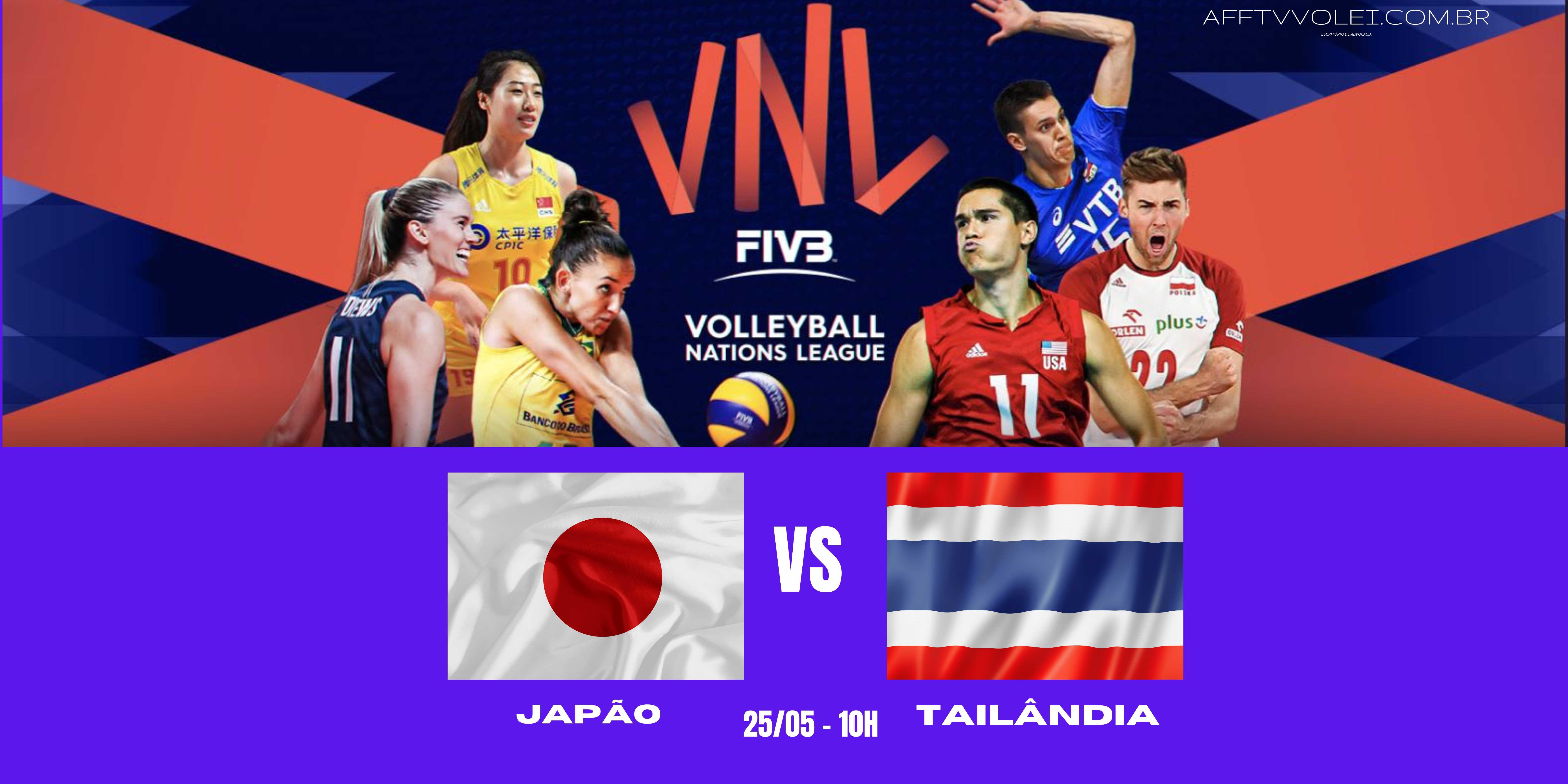 Japão vs Tailandia – Liga das Nações Vôlei Feminino – 25/05/2021