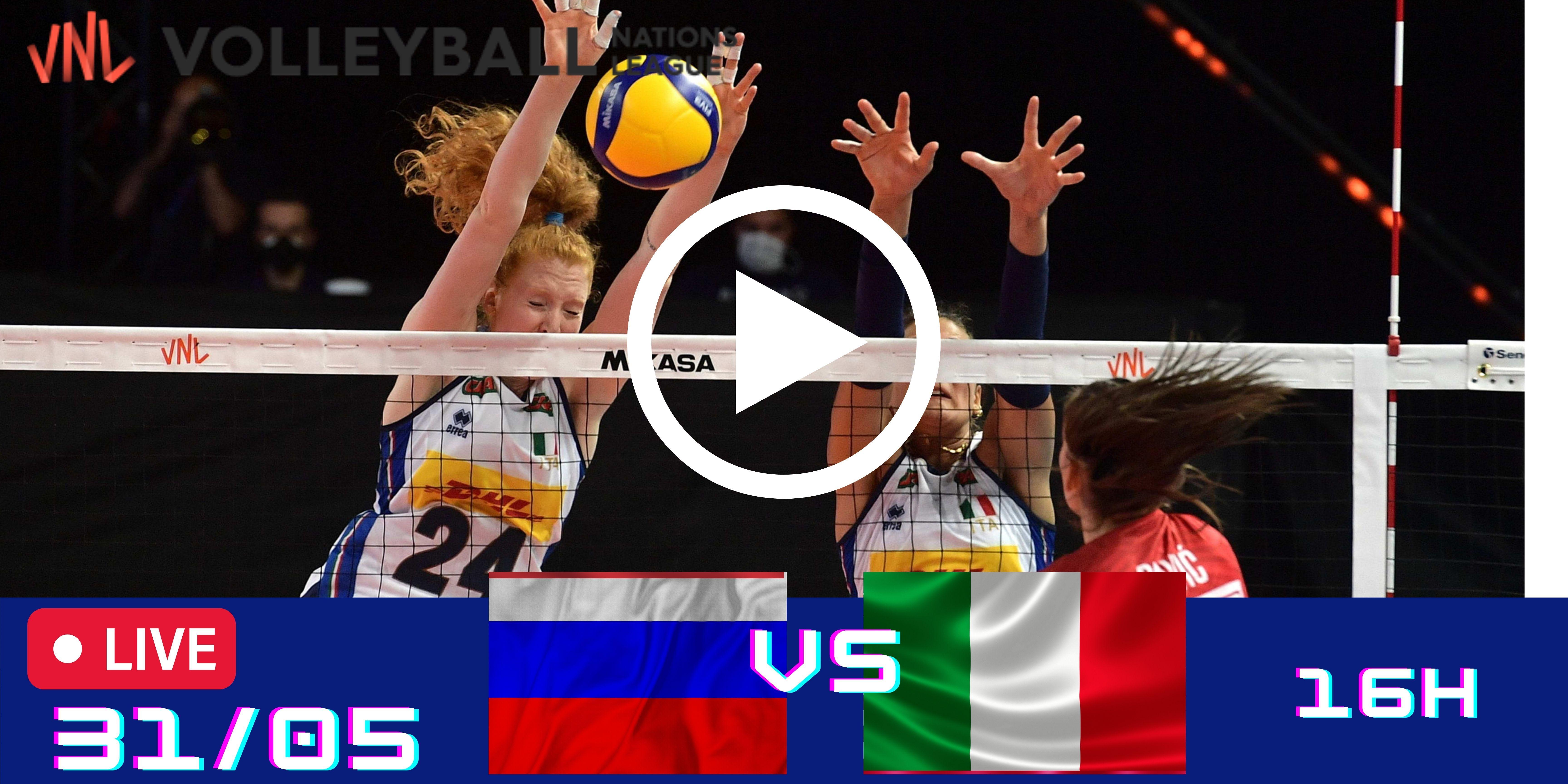 Resultado: Rússia vs Itália – Liga das Nações – 31/05 – 16h