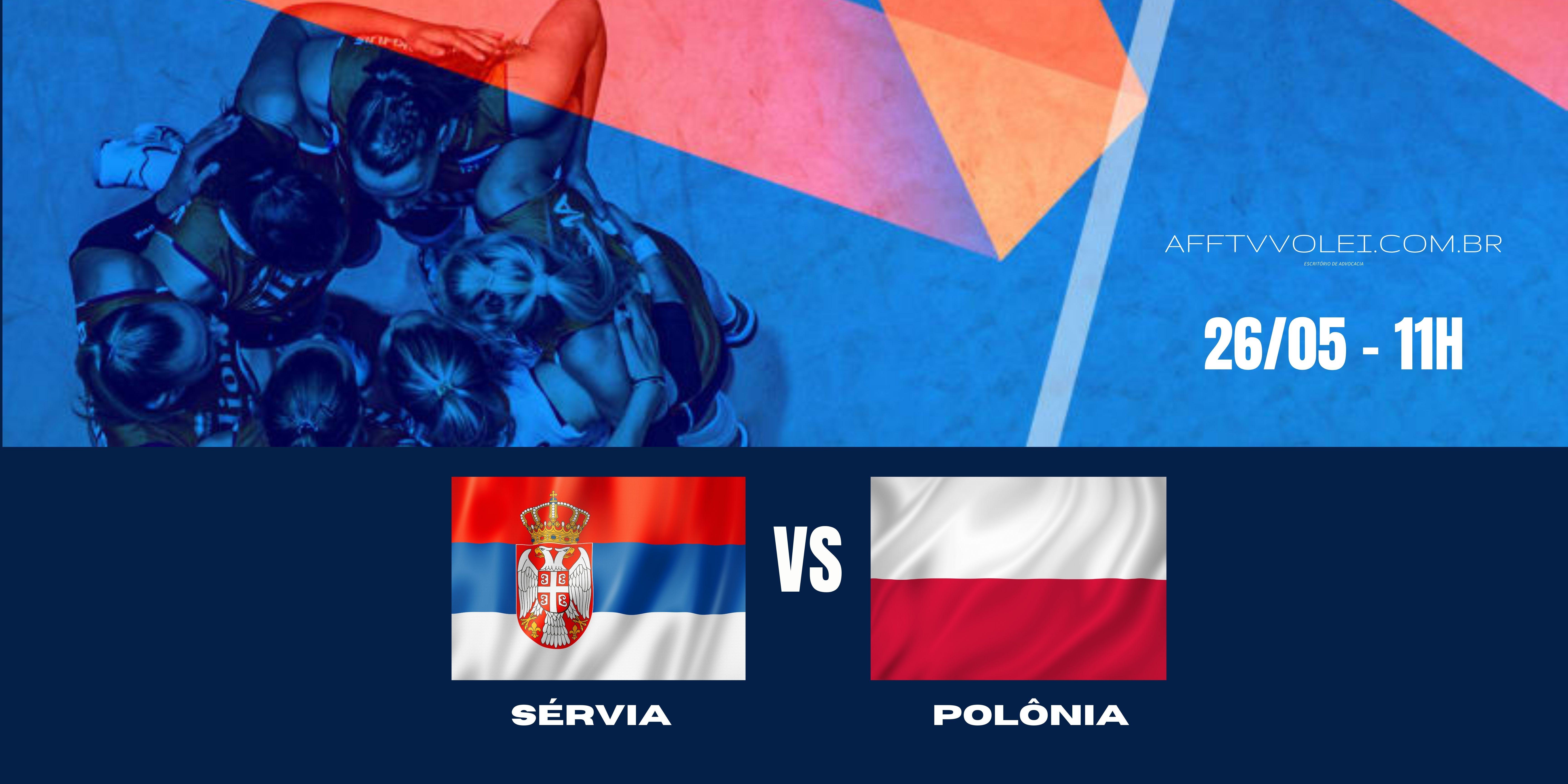 Sérvia vs Polônia – Liga das Nações – 26/05/2021