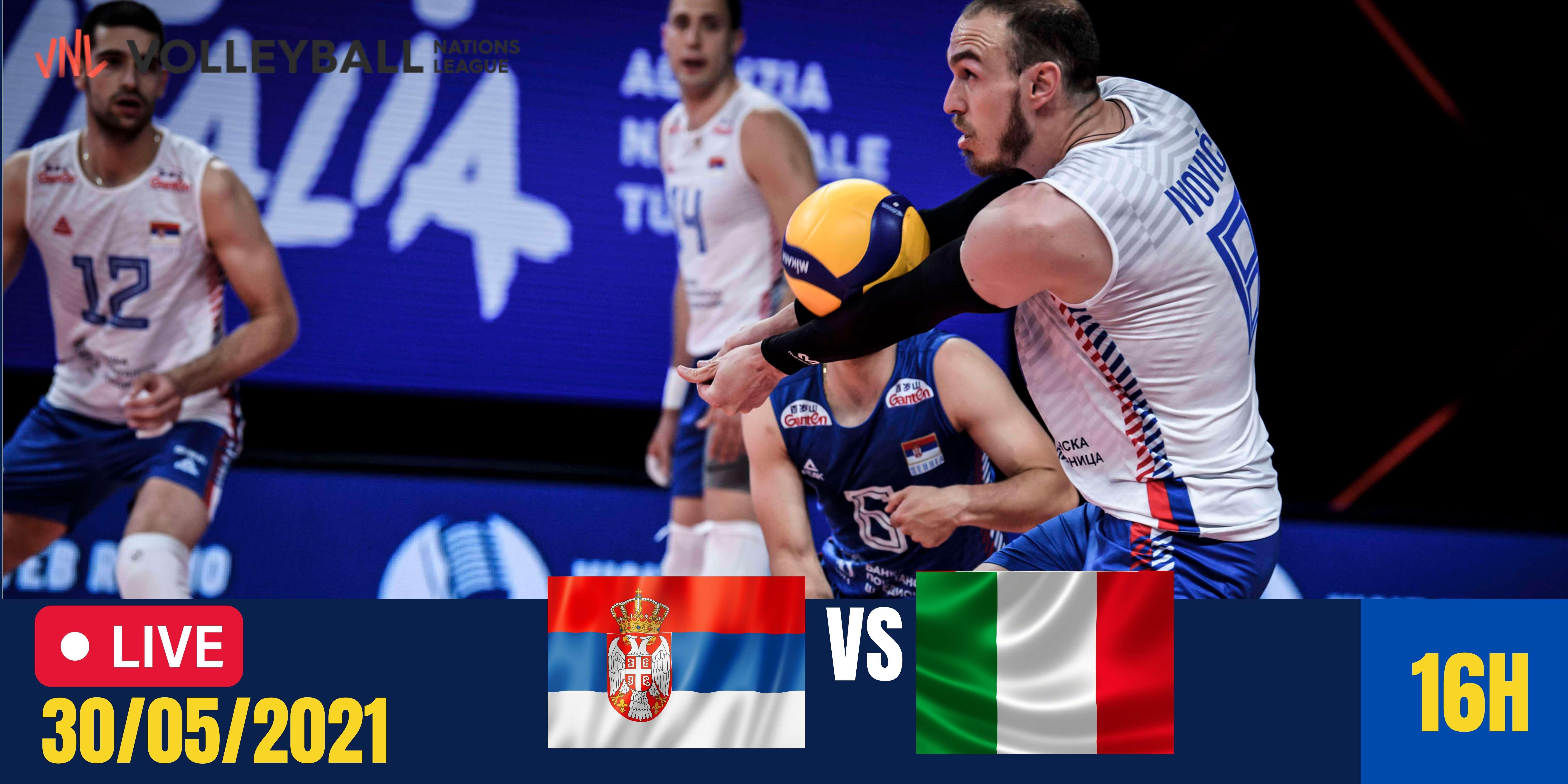 Resultado: Sérvia vs Itália – Liga das Nações Masculina – 30/05/2021