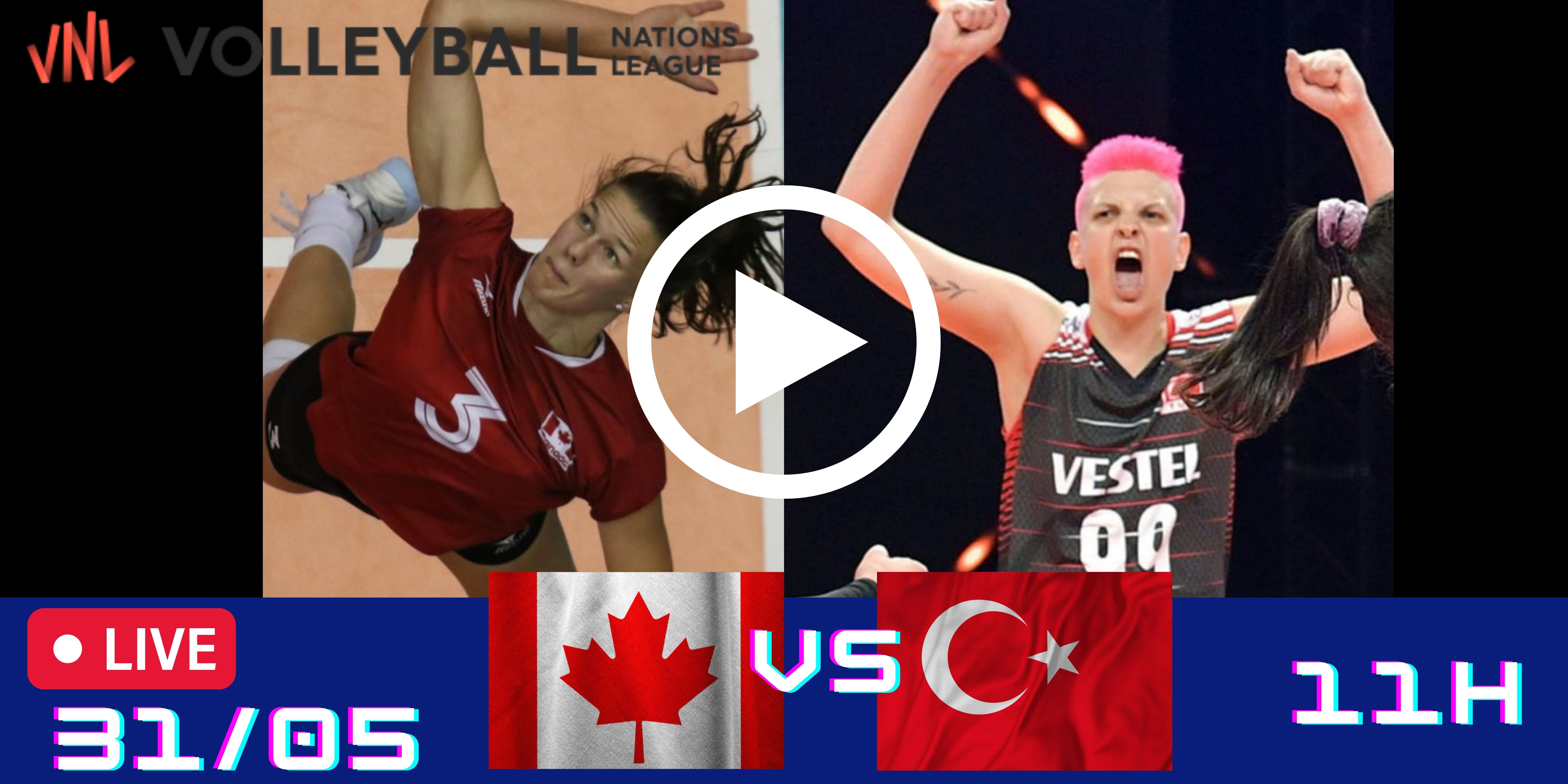 Resultado: Canadá vs Turquia – Liga das Nações – 31/05 – 11h