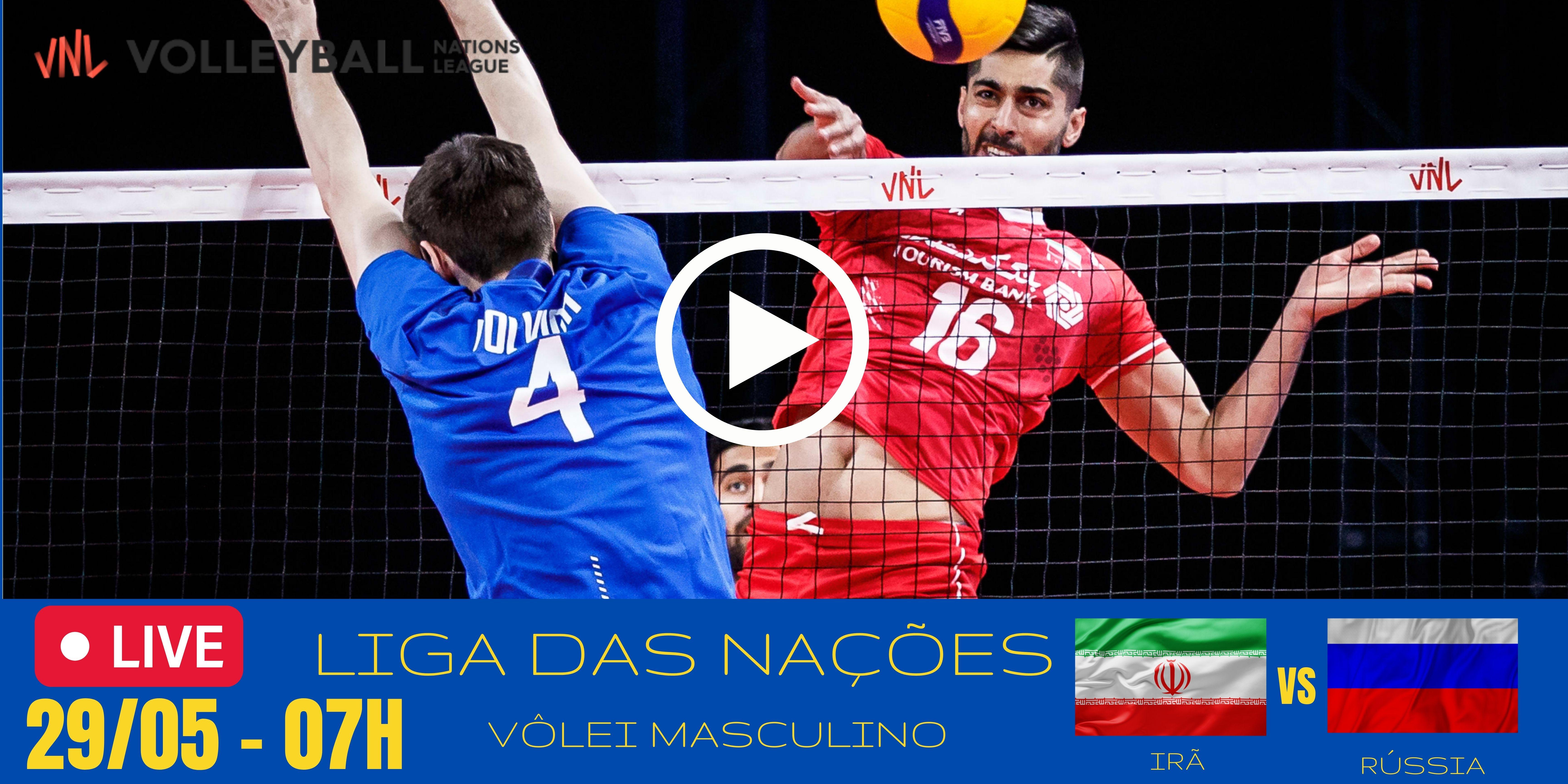 Irã vs Rússia – Liga das Nações – 29/05/2021