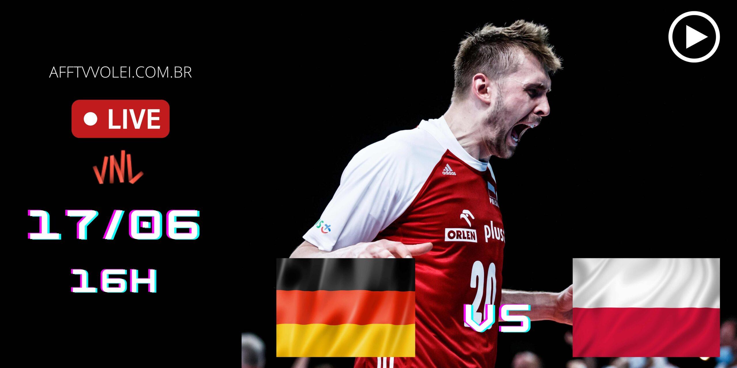 AO VIVO: Alemanha vs Polônia – Liga das Nações – 17/06 – 15h50