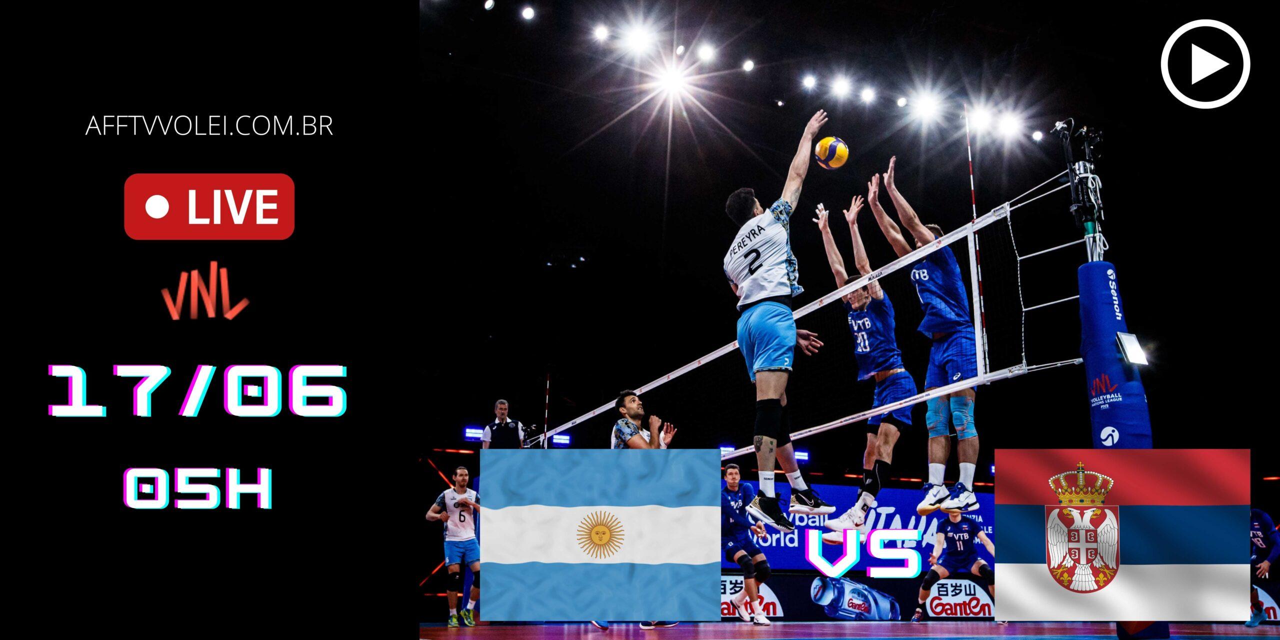 AO VIVO: Argentina vs Sérvia – Liga das Nações – 17/06 – 05h
