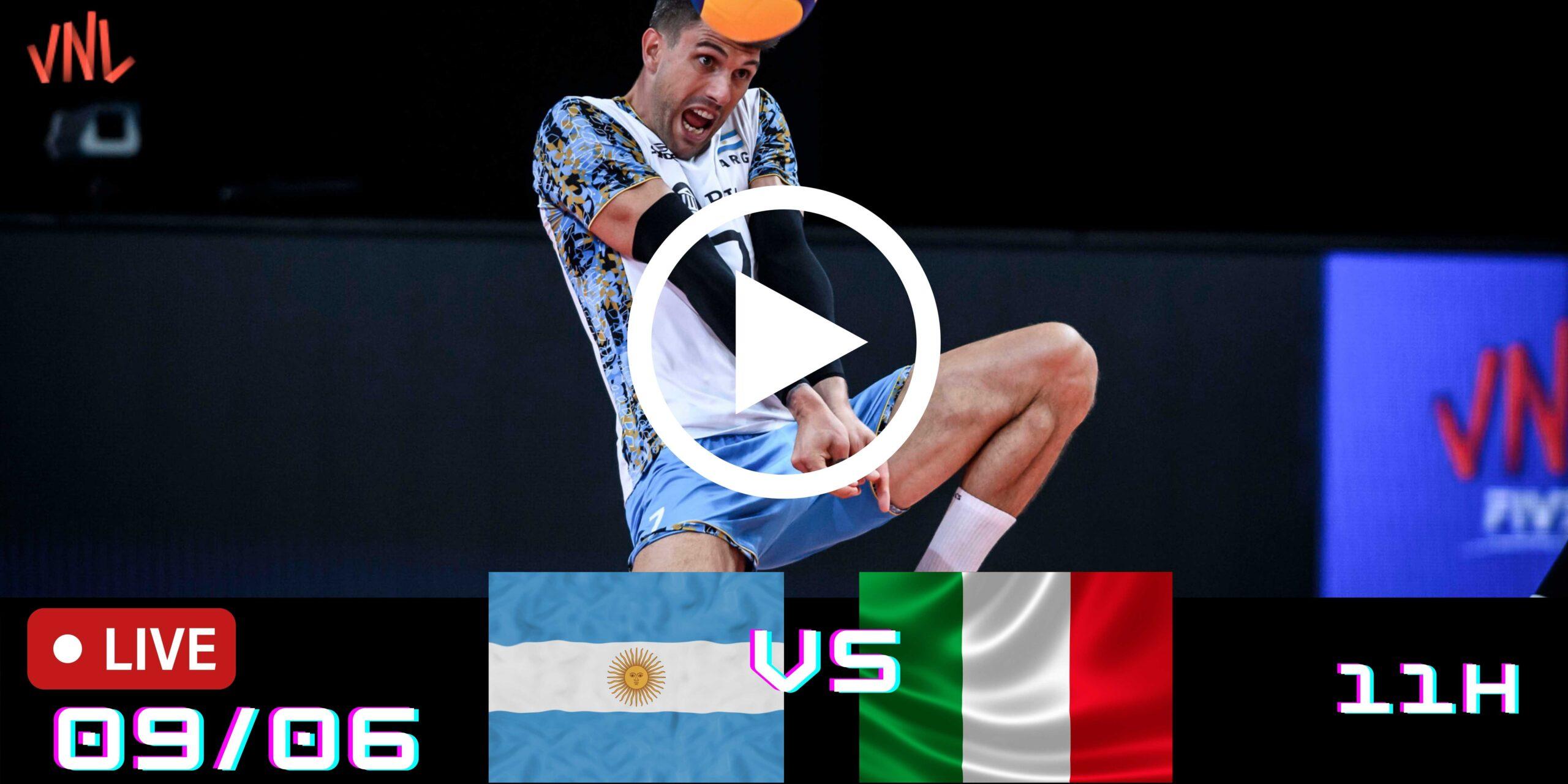 Resultado: Argentina 0 vs 3 Itália – Liga das Nações – 09/06/2021