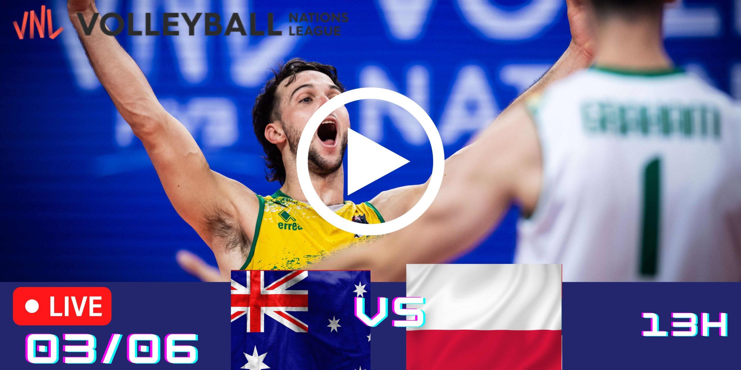 Resultado: Austrália 0 vs 3 Polônia – Liga das Nações – 03/06 – 13h