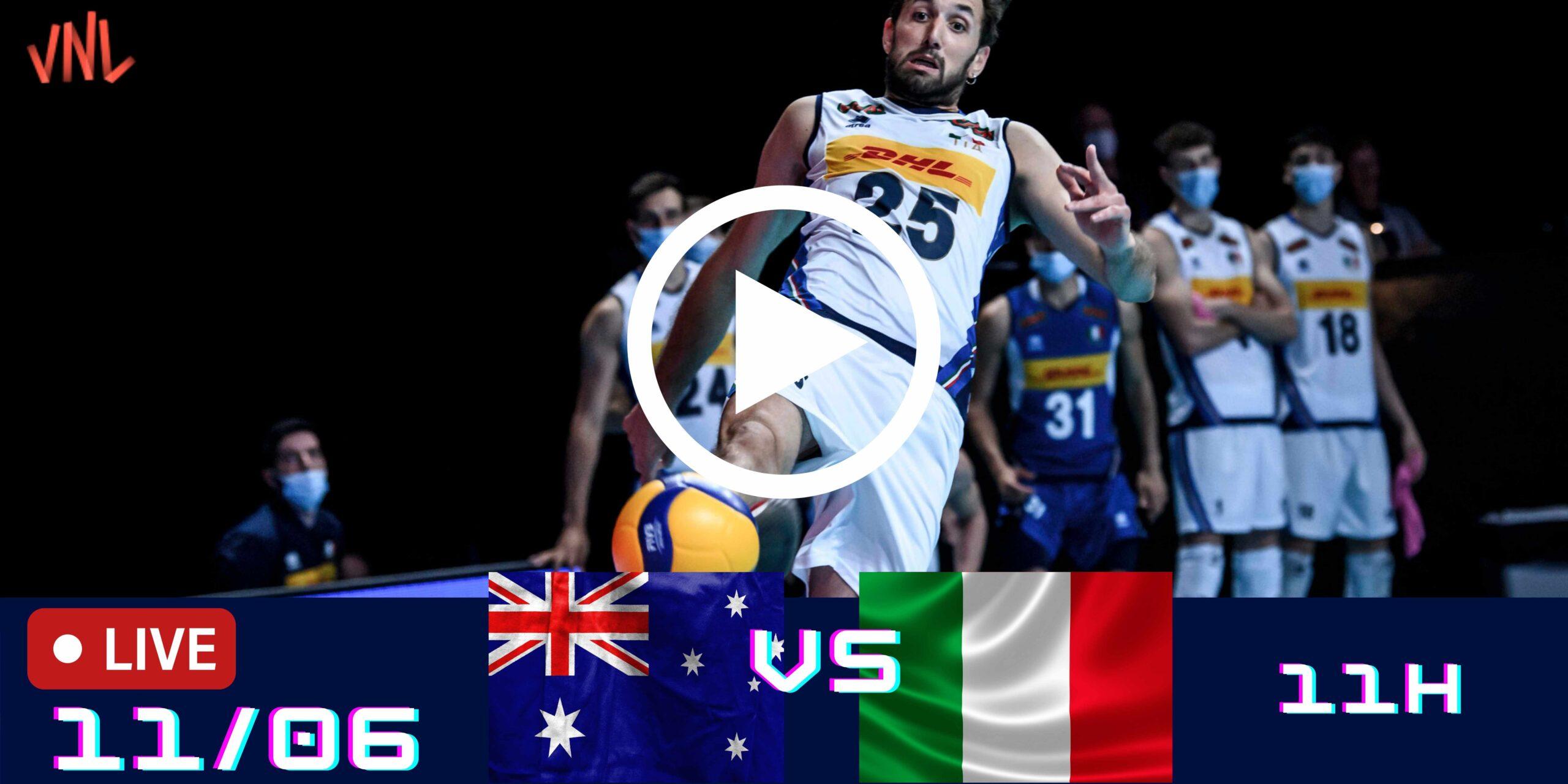 Austrália 0 vs 3 Itália – Liga das Nações Masculina – 11/06/2021