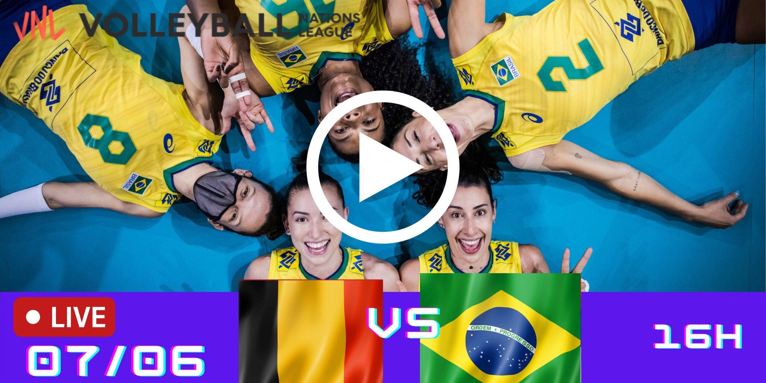 Gravado: Bélgica vs Brasil – Liga das Nações – 07/06/2021
