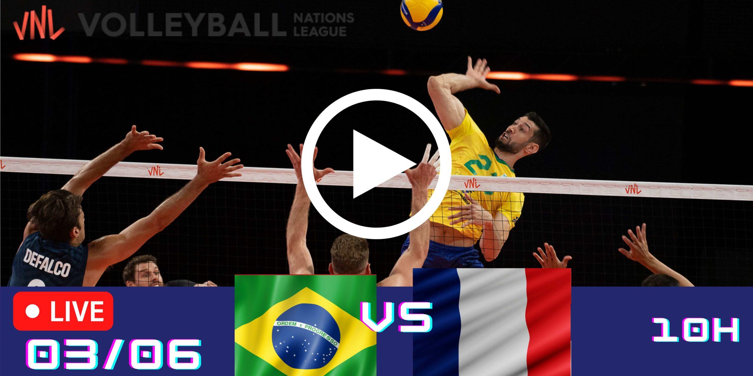 Resultado: Brasil 0 vs 3 França – Liga das Nações – 03/06 – 10h