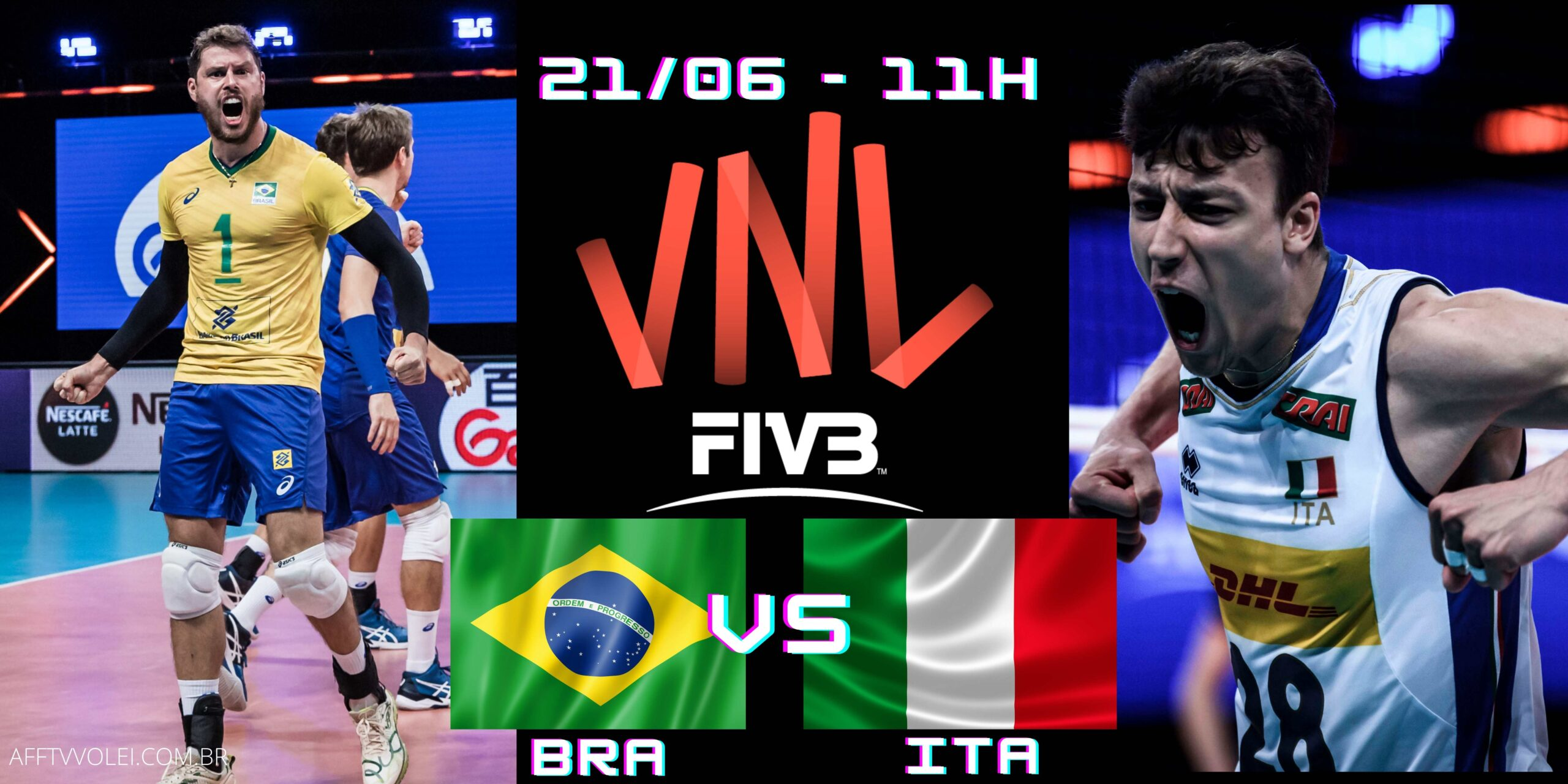 REPRISE: Brasil vs Itália – Jogo de Ontem – 08h e 12h