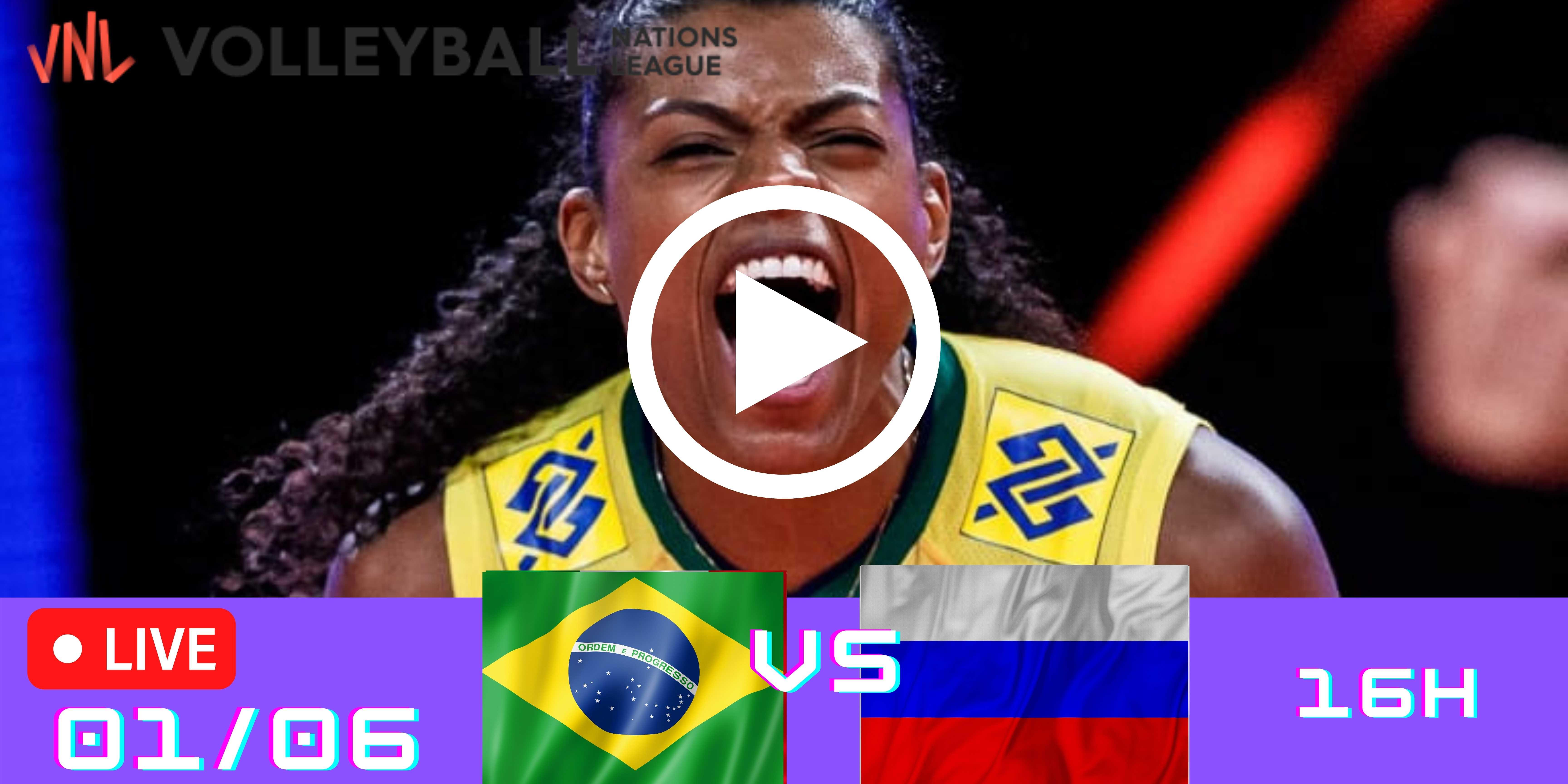 Resultado: Brasil vs Rússia – Liga das Nações – 01/06 – 16h