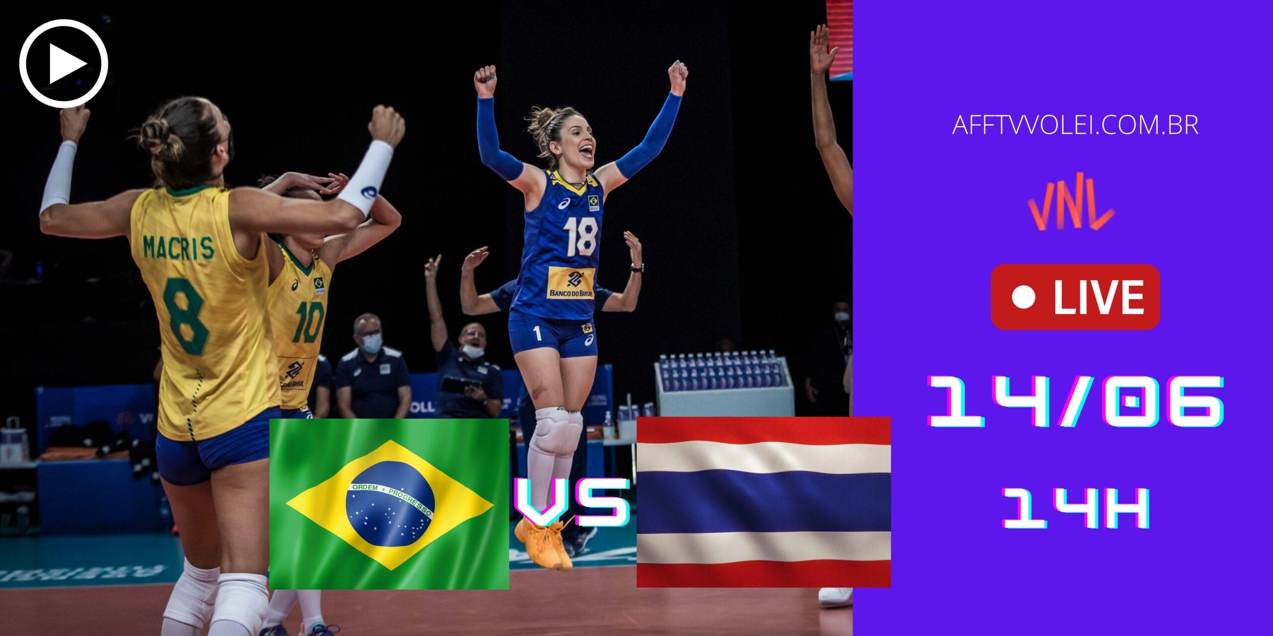 Jogo Gravado: Brasil 3 vs 0 Tailândia – Liga das Nações – 14/06/2021