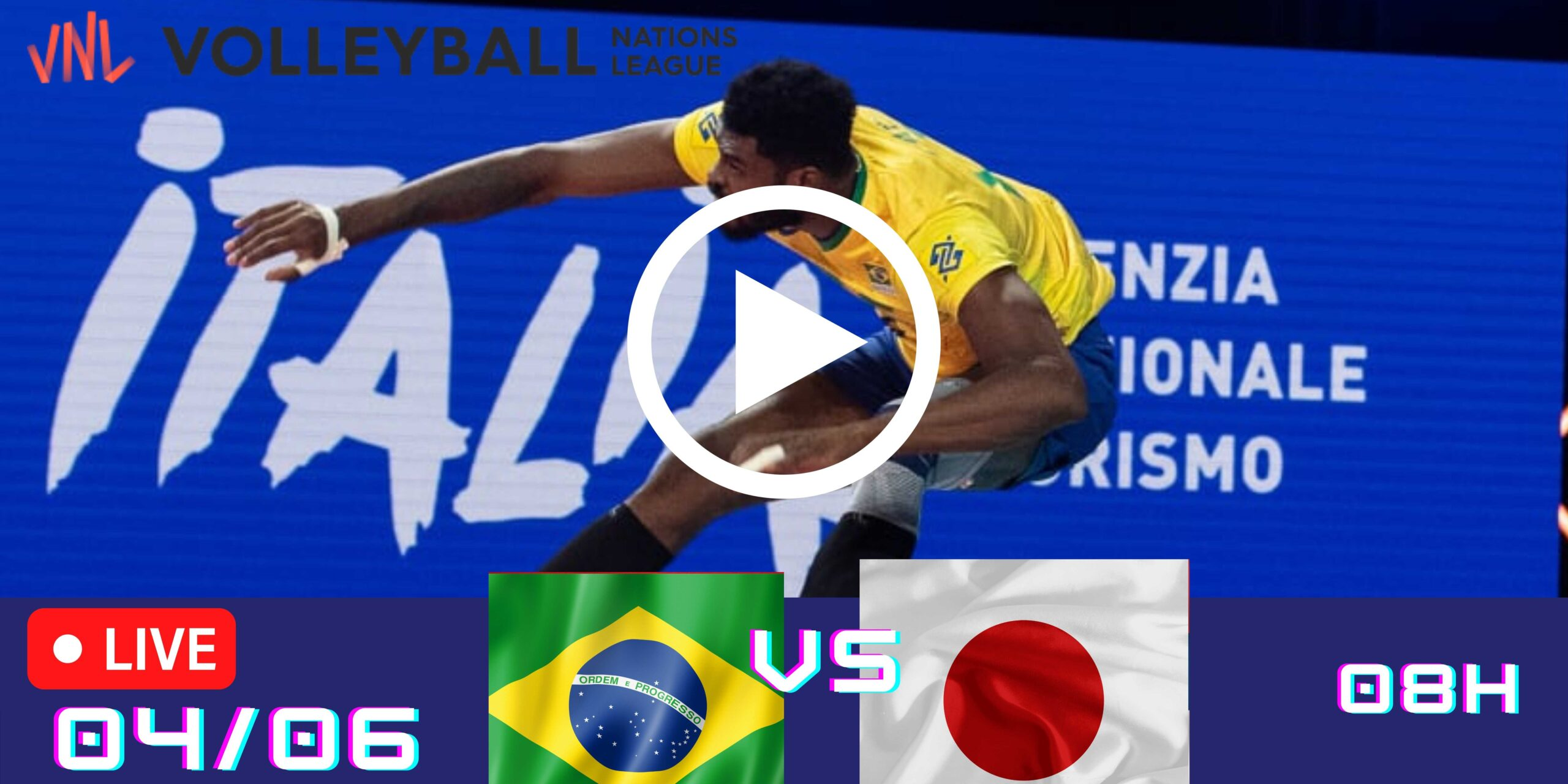Resultado: Brasil 3 vs 0 Japão – Liga das Nações – 04/06 – 08h