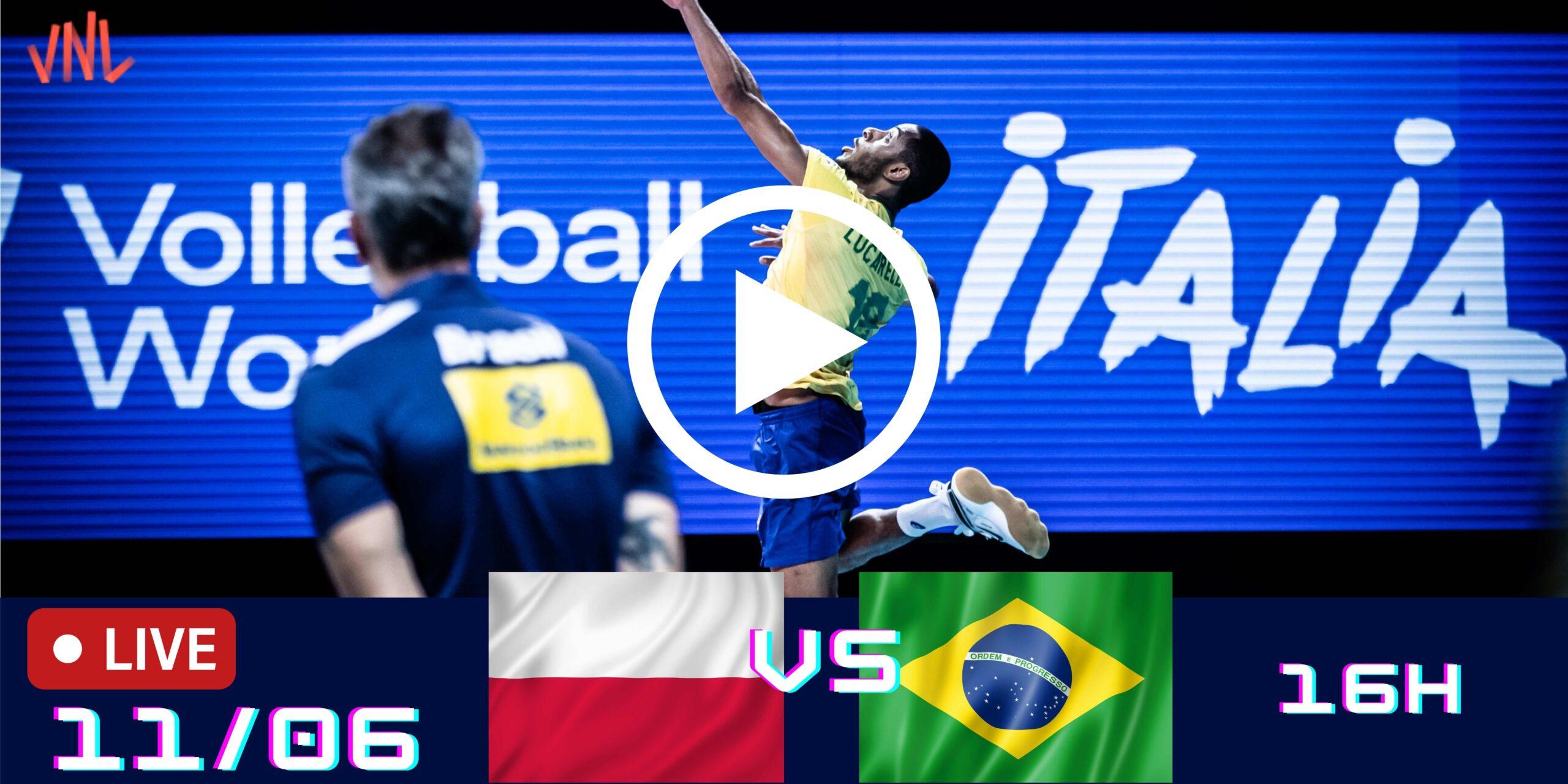 Melhores Momentos de Polônia vs Brasil – Liga das Nações 11/06
