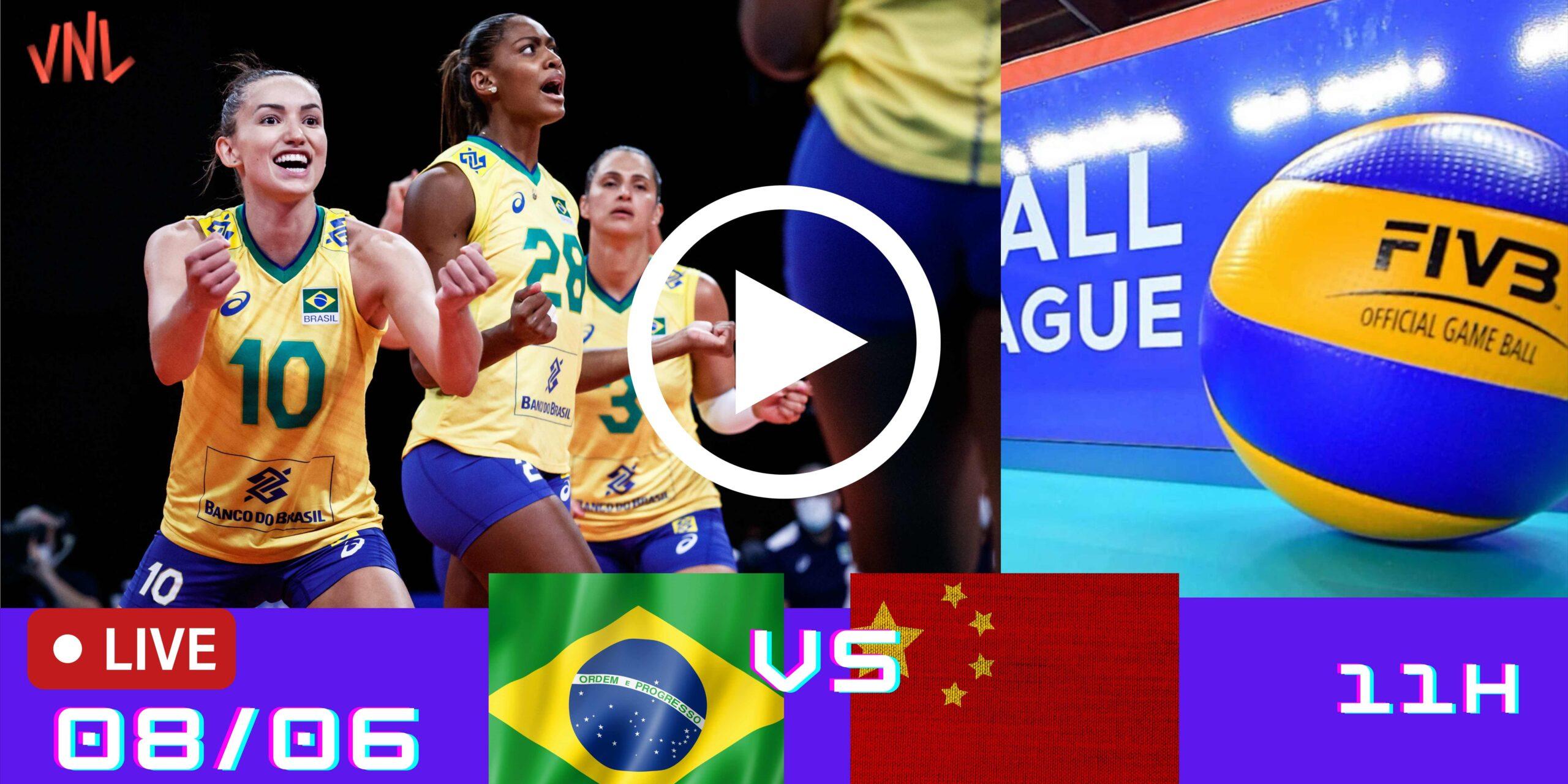 Jogo Gravado: China vs Brasil – Liga das Nações – 08/06/2021