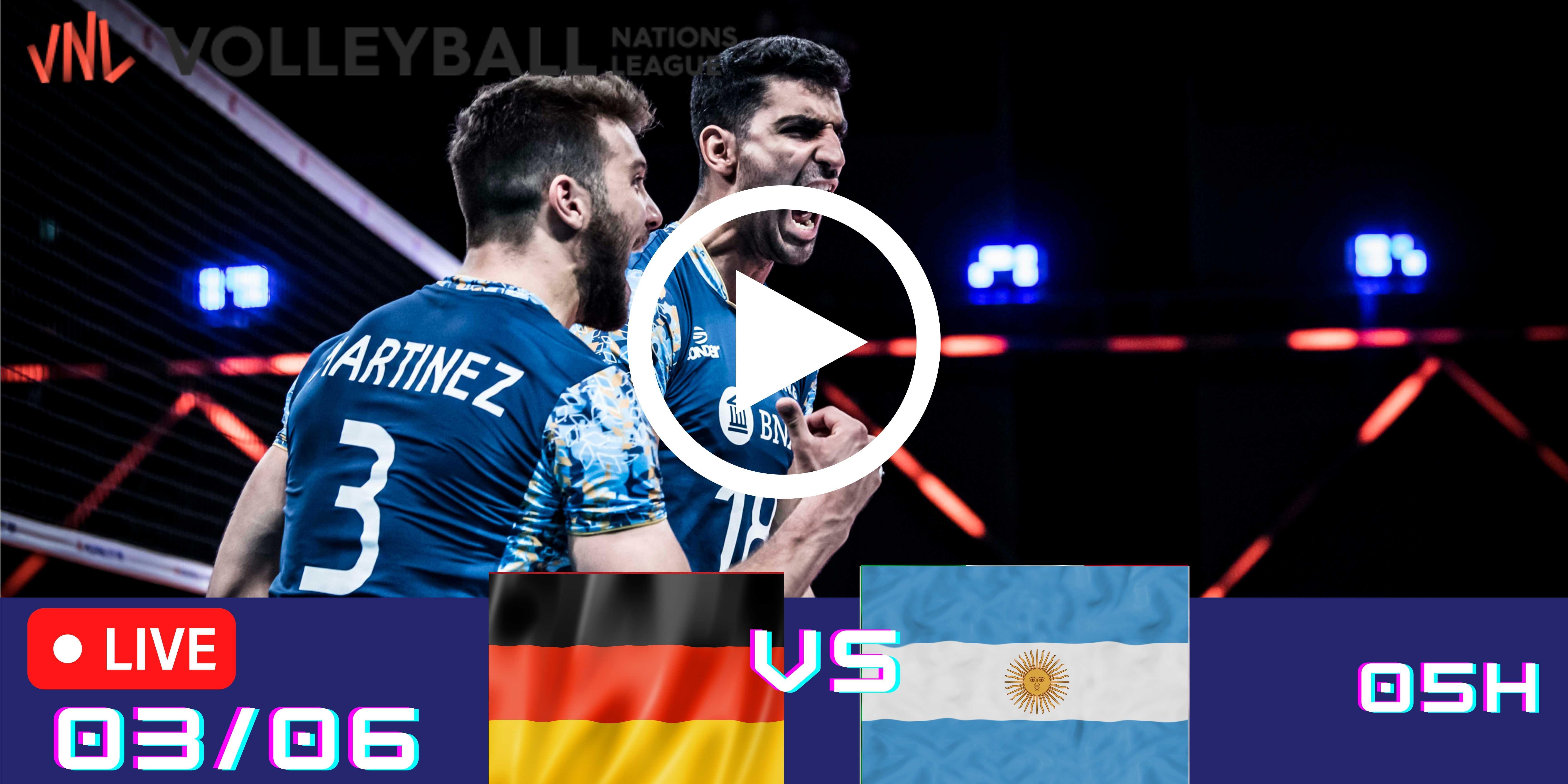 Resultado: Alemanha 2 vs 3 Argentina – Liga das Nações – 03/06 – 05h