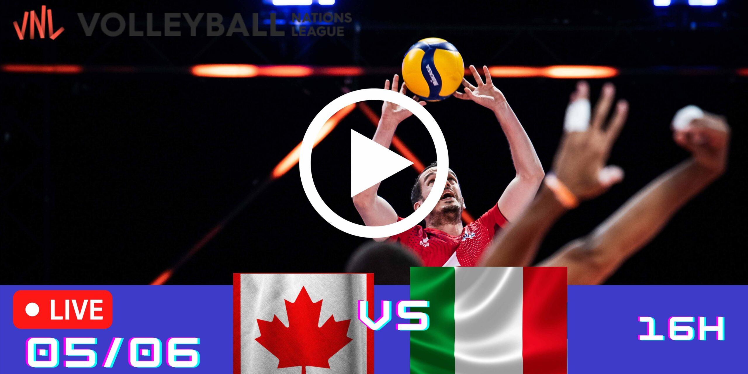 Resultado: Canadá 2 vs 3 Itália – Liga das Nações – 05/06 – 16h