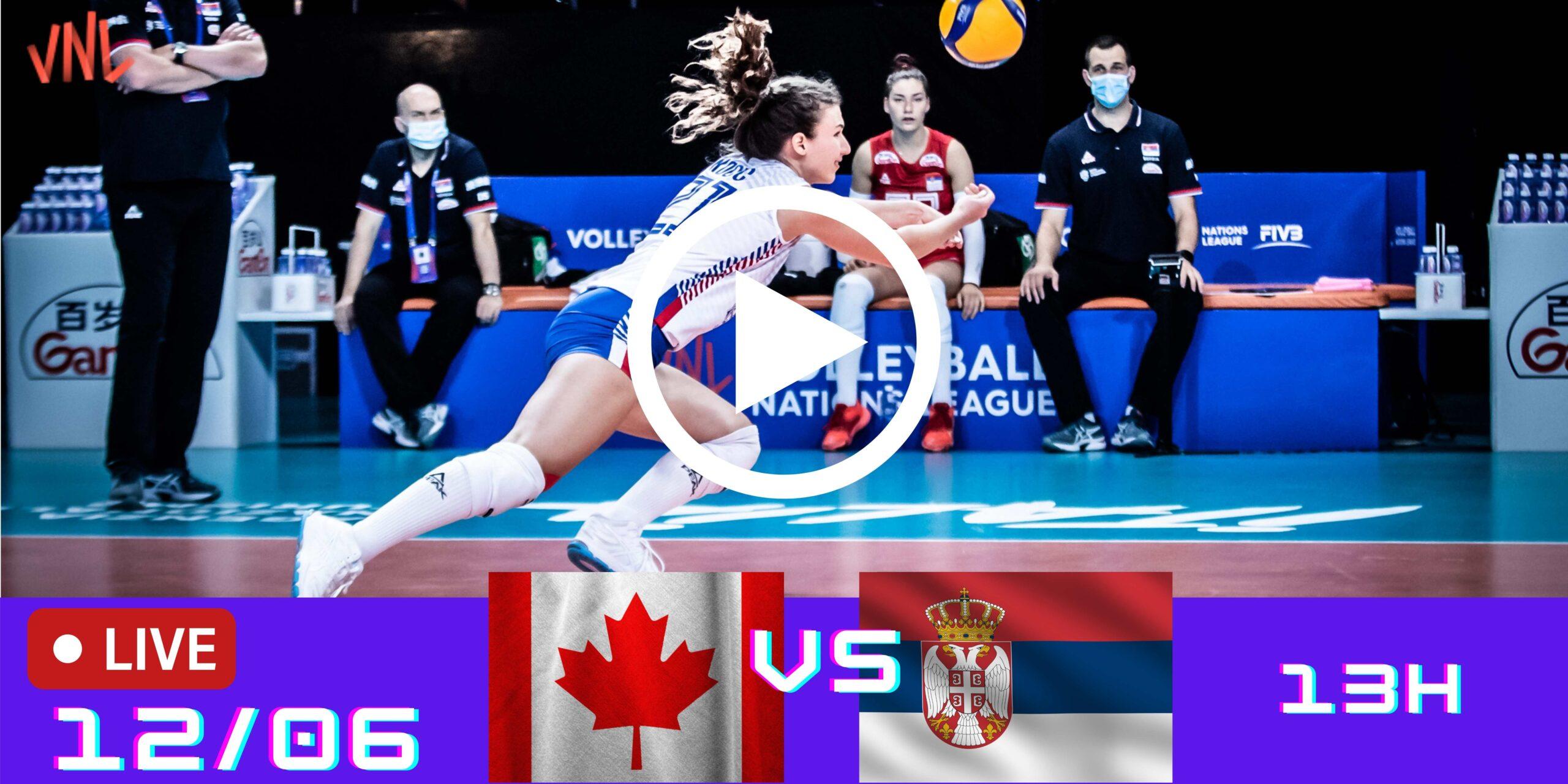 Canadá 3 vs 1 Sérvia – Liga das Nações – 12/06/2021