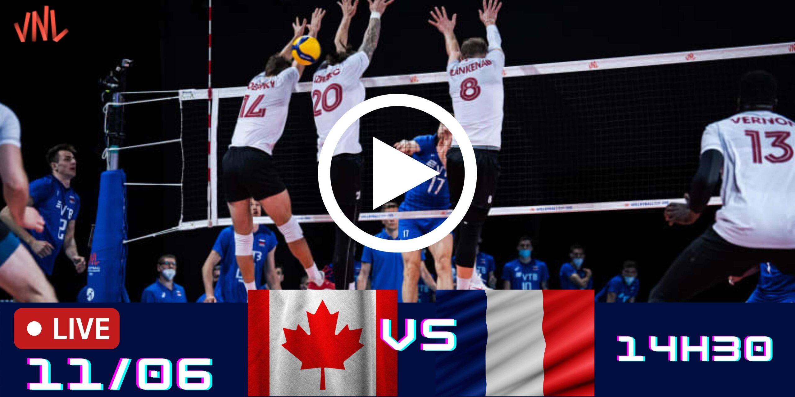 AO VIVO: Canadá vs França – Liga das Nações – 11/06 – 14h30