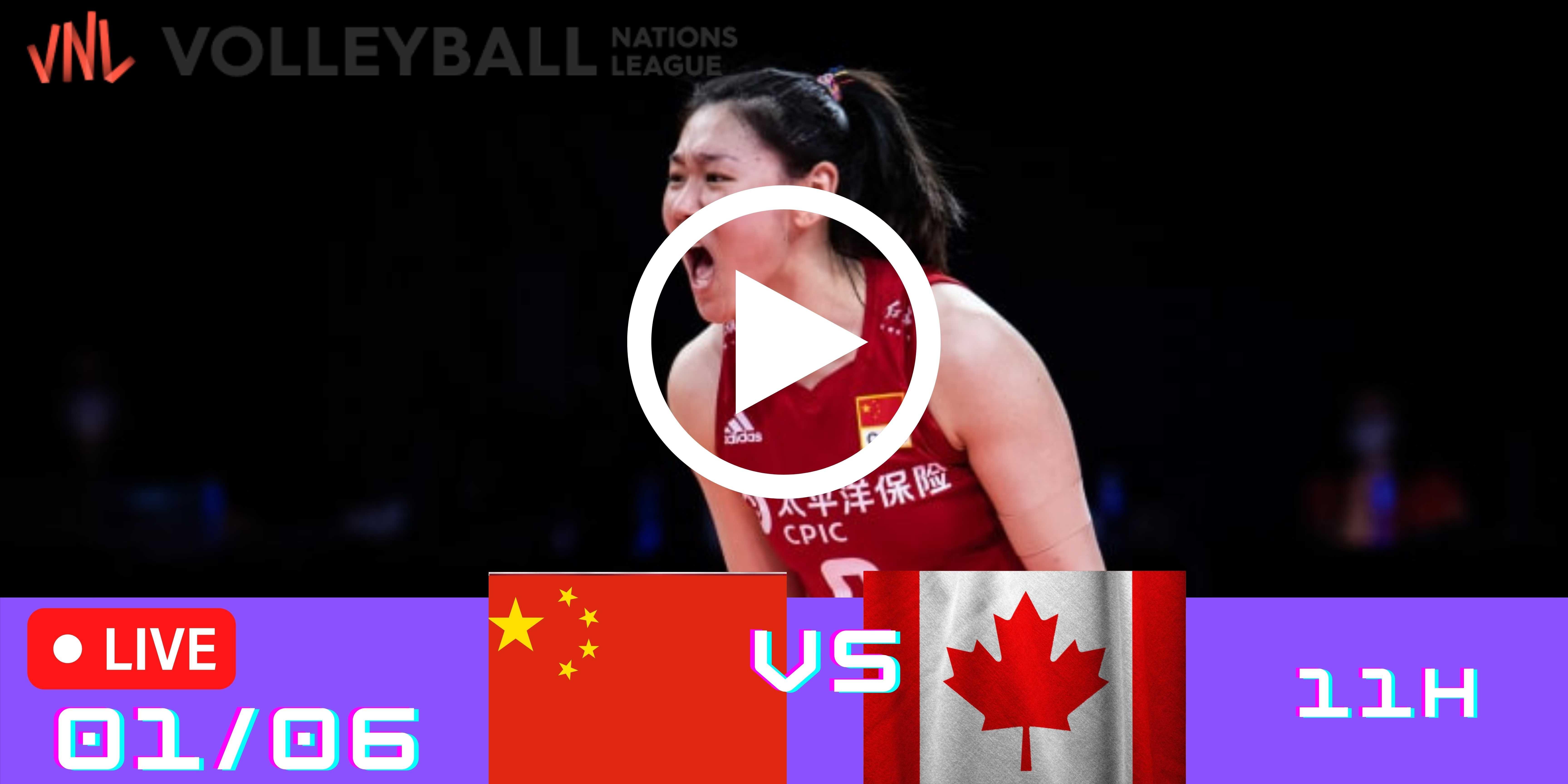 Resultado: China vs Canadá – Liga das Nações – 01/06/2021