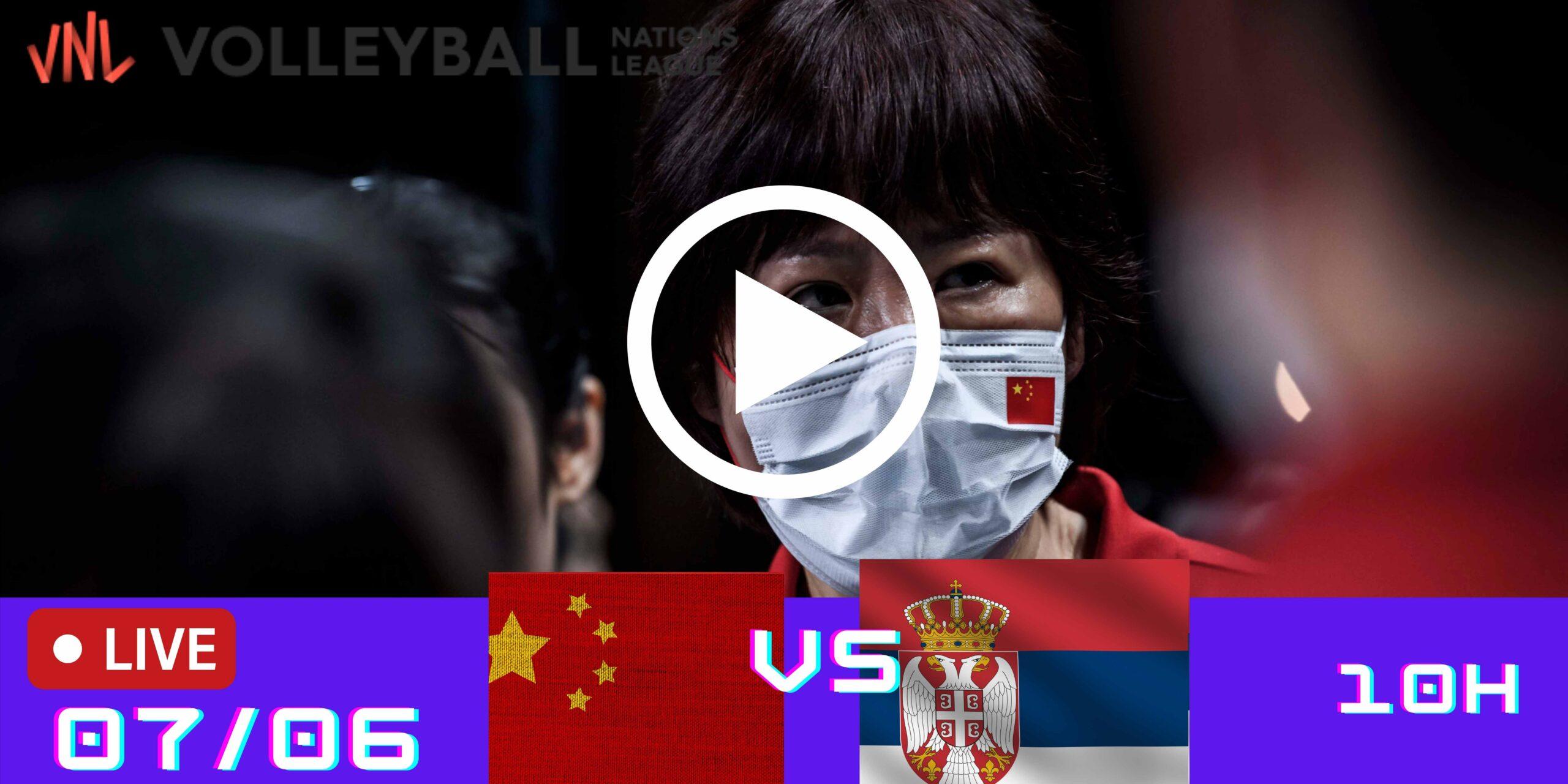Resultado: China 1 vs 3 Sérvia – Liga das Nações – 07/06 – 10h
