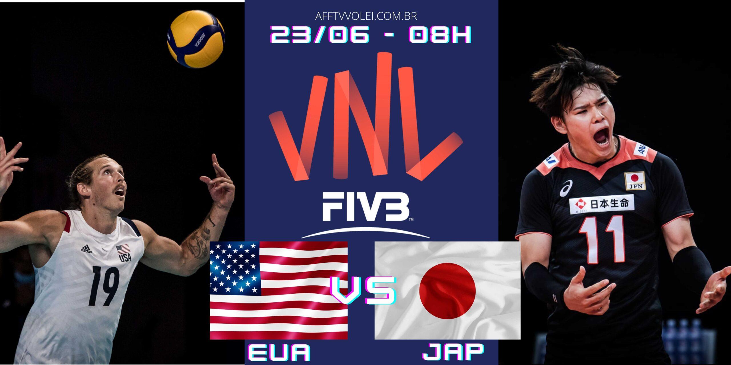 EUA 3 vs 0 Japão – Liga das Nações – 23/06/2021