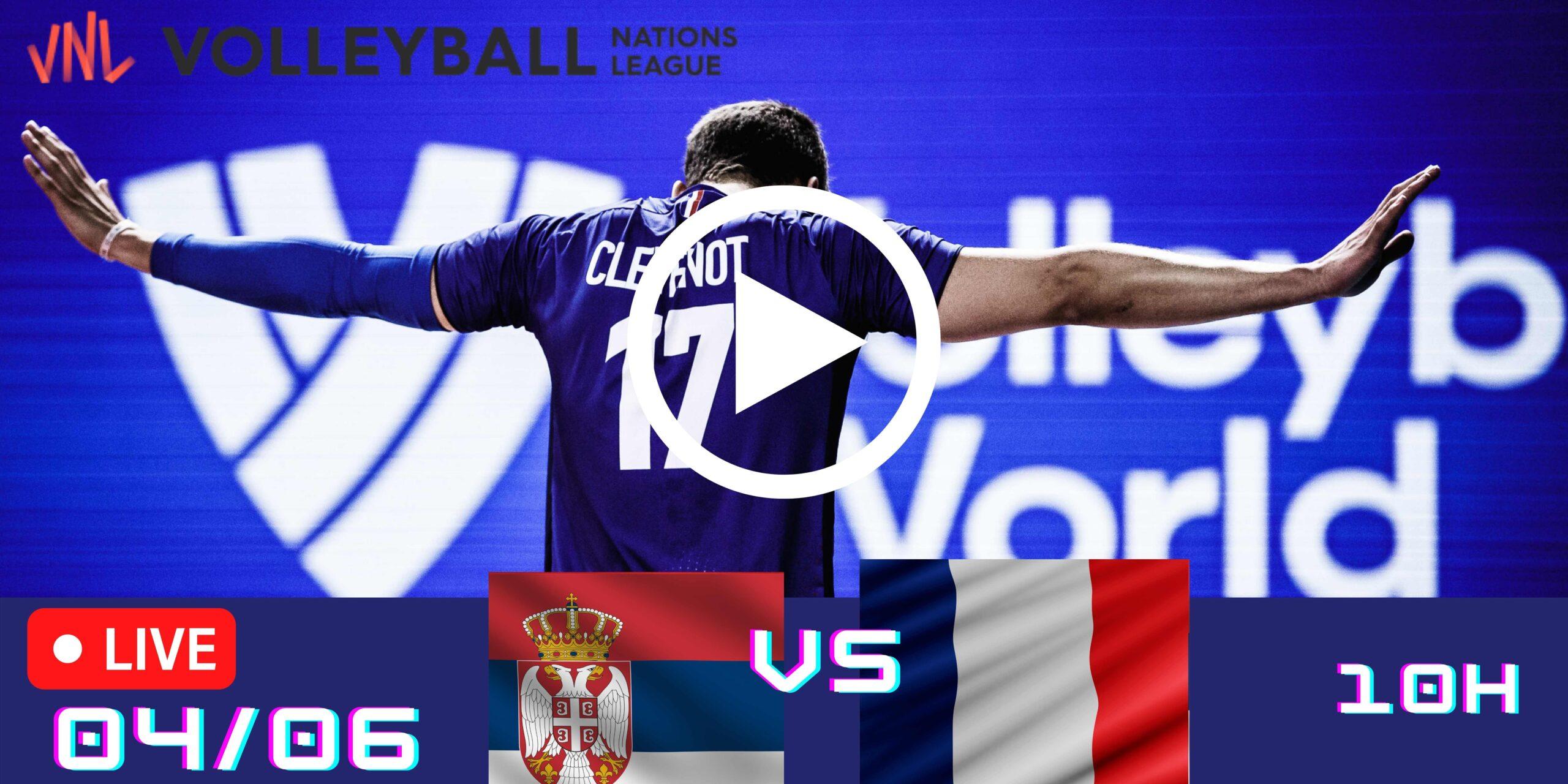 Resultado: Sérvia 3 vs 2 França – Liga das Nações – 04/06 – 10h
