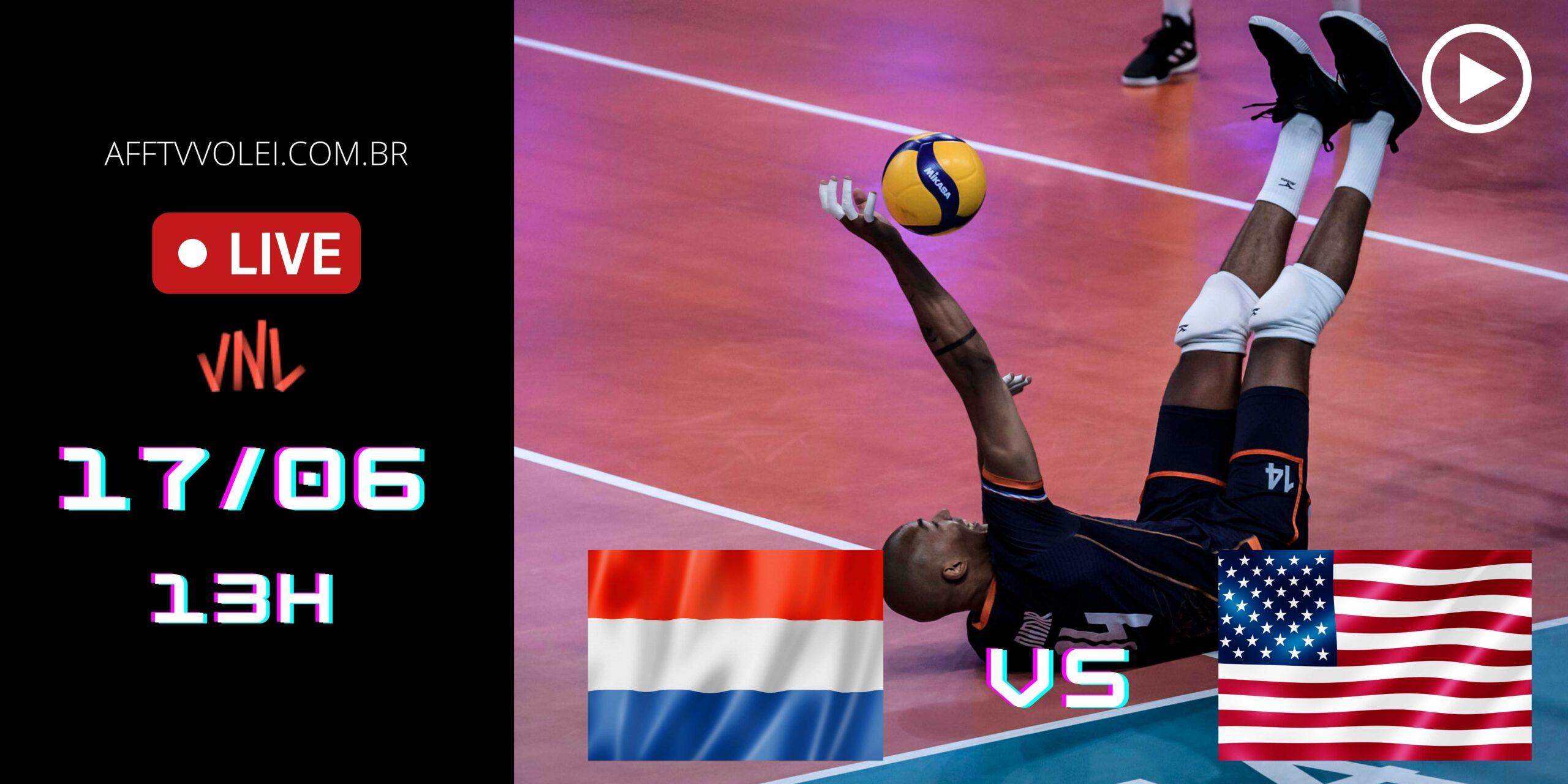 AO VIVO: Holanda vs EUA – Liga das Nações – 17/06 – 12h50
