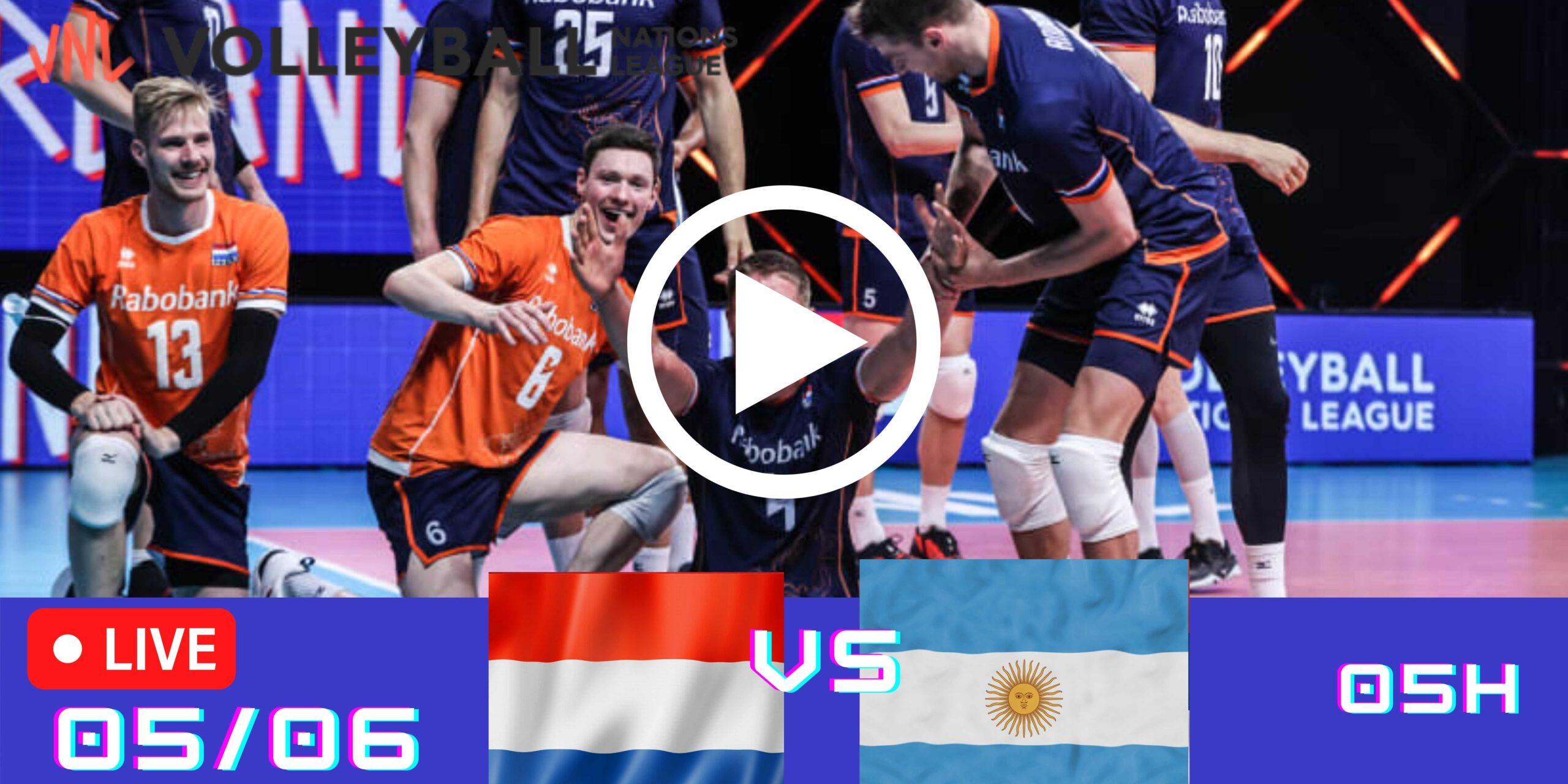 Resultado: Holanda 0 vs 3 Argentina – Liga das Nações – 05/06 – 05h