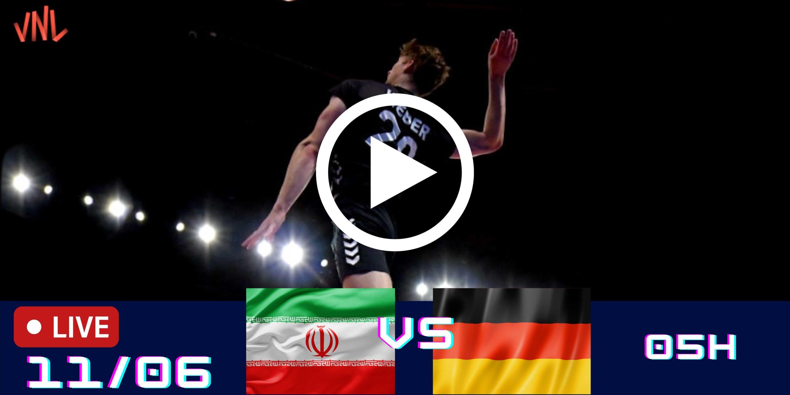 IRÃ 2 vs 3 Alemanha – Liga das Nações Masculina – 11/06/2021