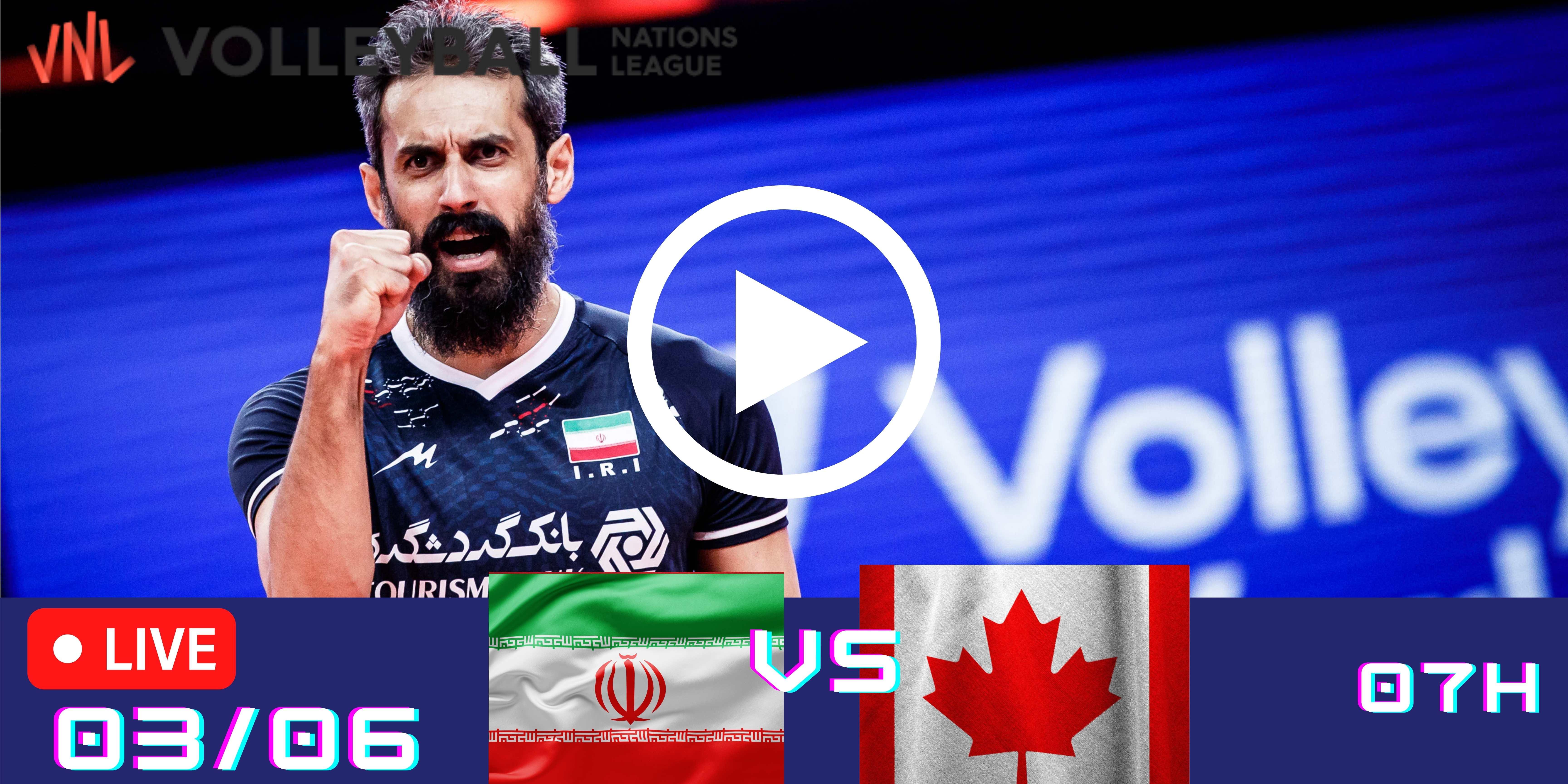 Resultado: Irã 3 vs 1 Canadá – Liga das Nações – 03/06 – 07h