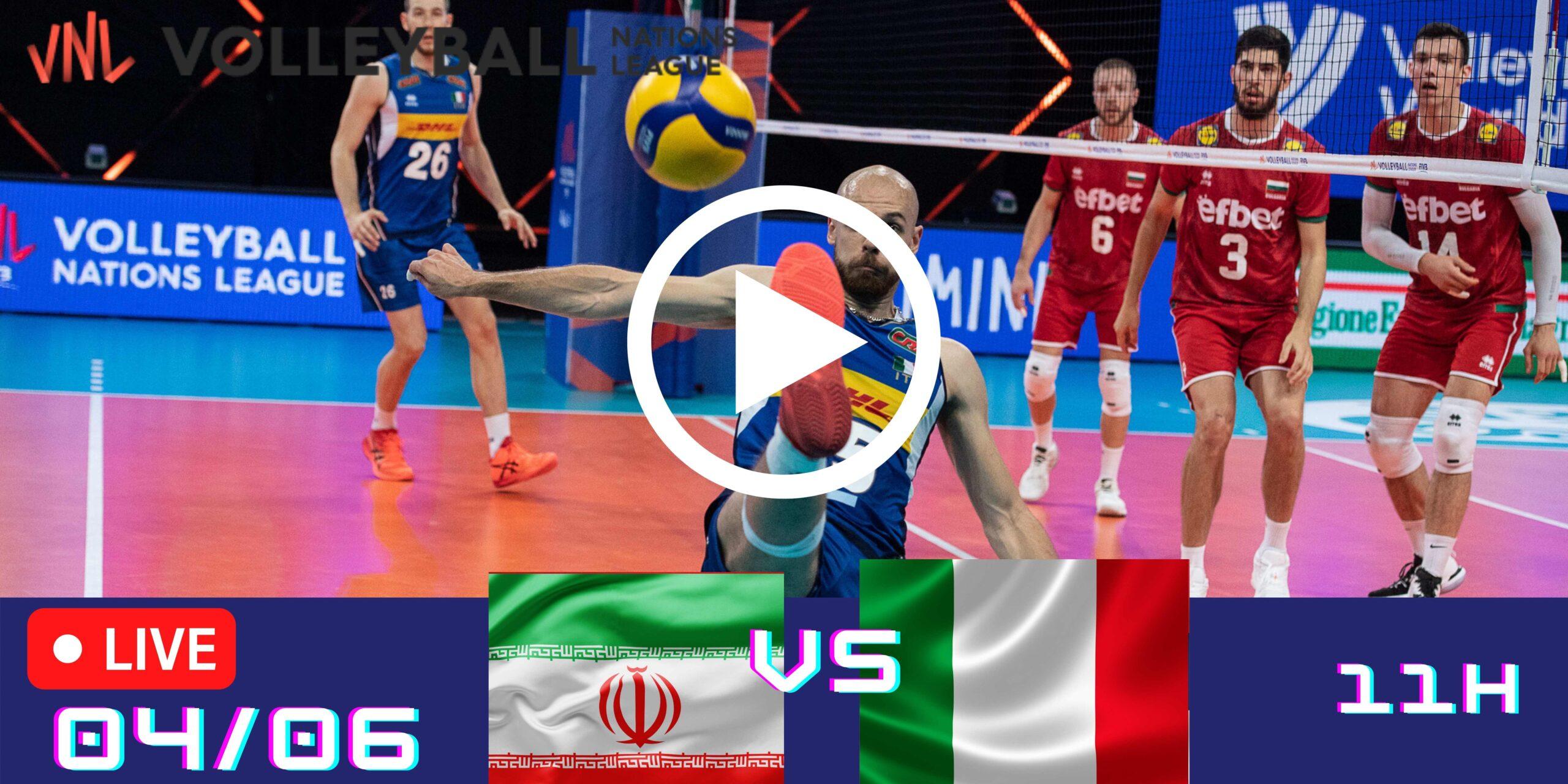 Resultado: Irã 3 vs 2 Itália – Liga das Nações – 04/06 – 11h