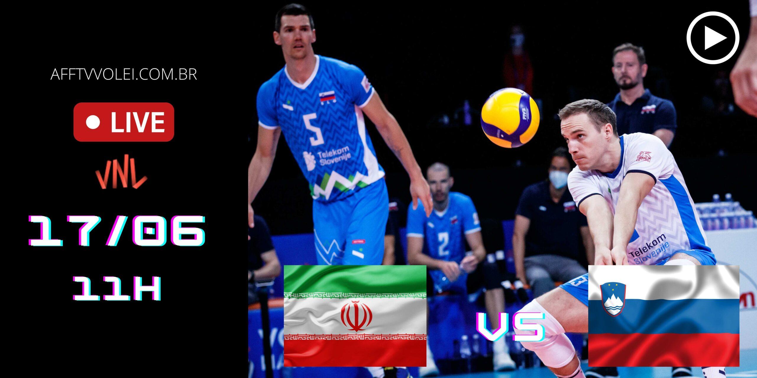 AO VIVO: Irã vs Eslovênia – Liga das Nações – 17/06 – 11h