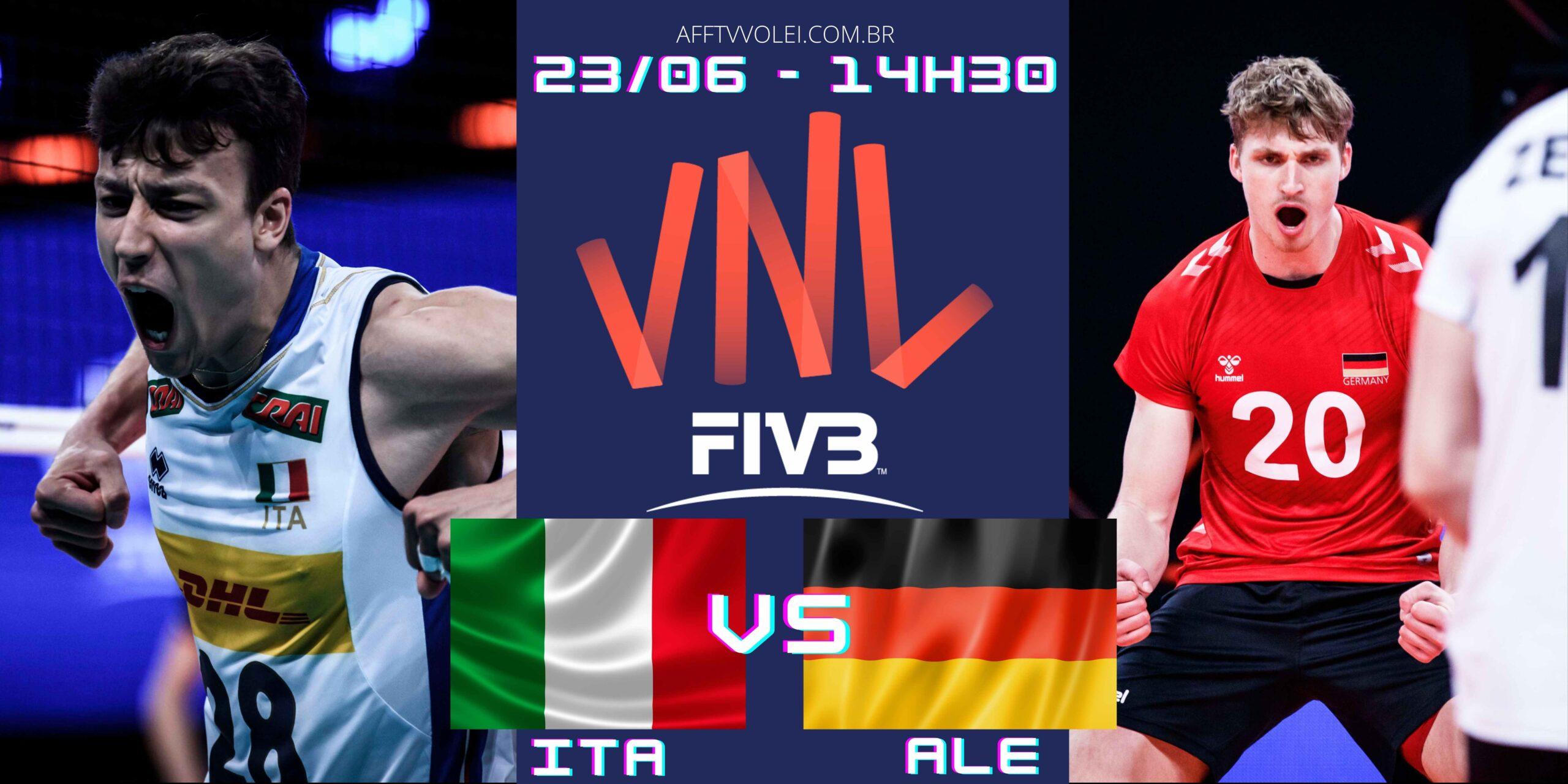 Itália 3 vs 2 Alemanha – Liga das Nações – 23/06/2021