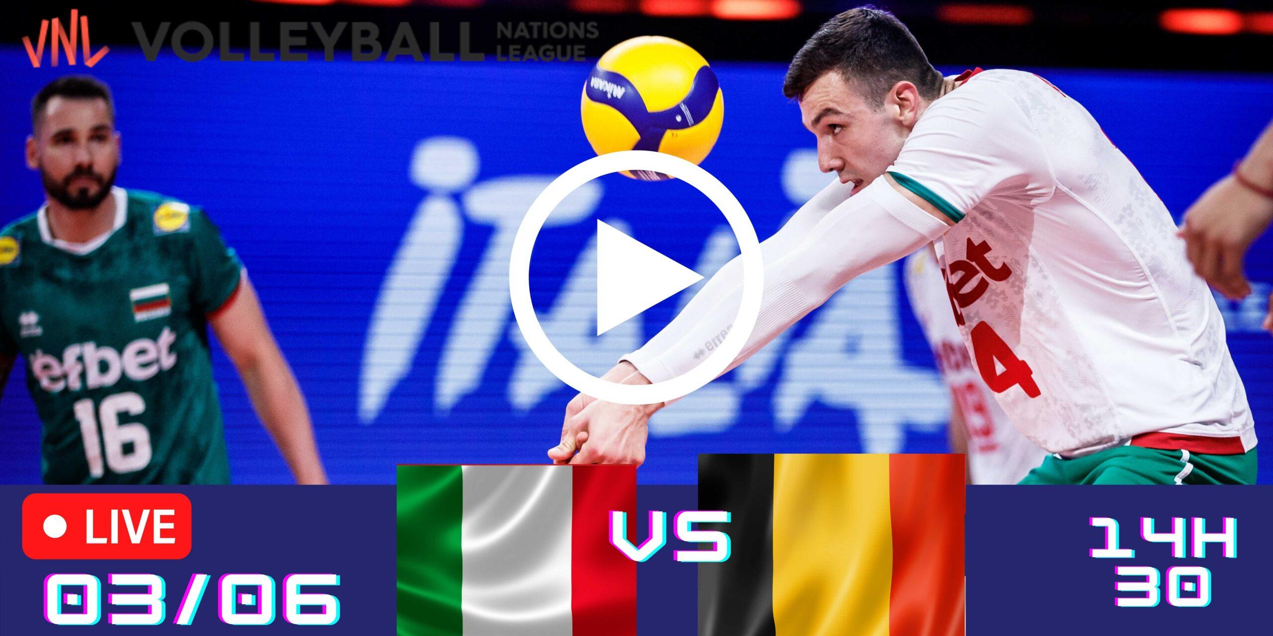 Resultado: Itália 3 vs 2 Bulgária – Liga das Nações – 03/06 – 14h30
