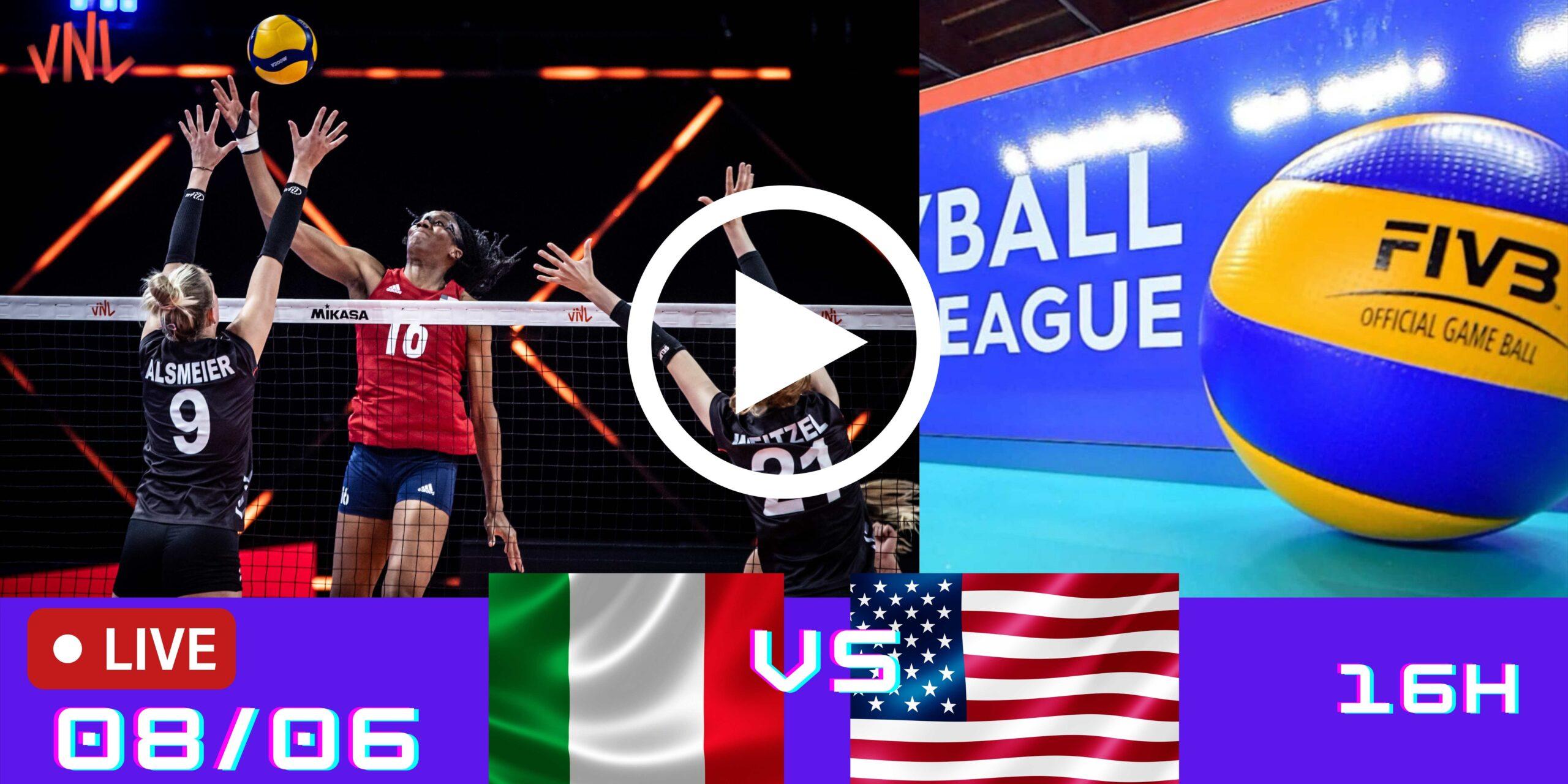 Resultado: Itália 1 vs 3 EUA – Liga das Nações – 08/06/2021