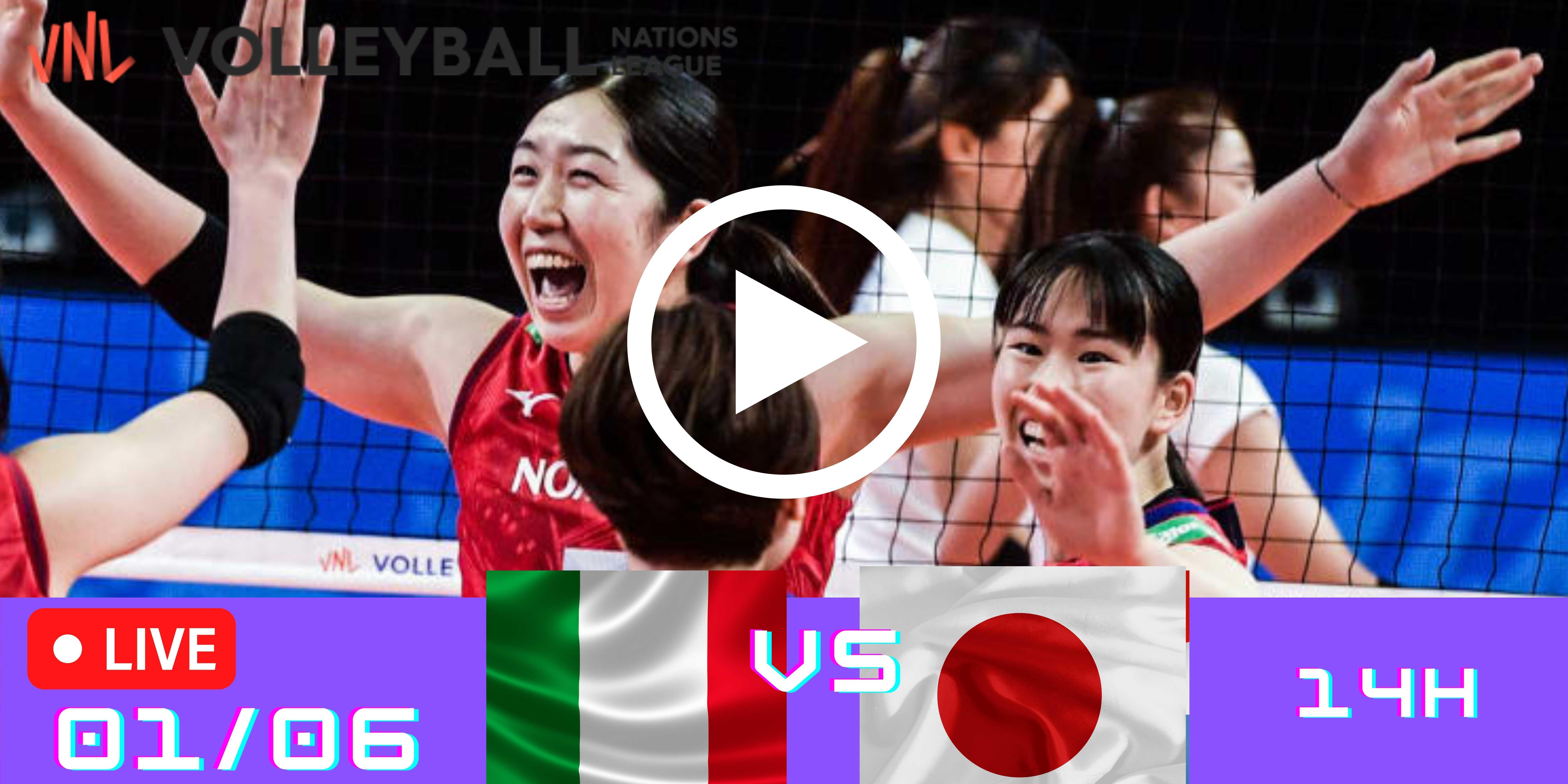 Resultado: Itália vs Japão – Liga das Nações – 01/06/2021