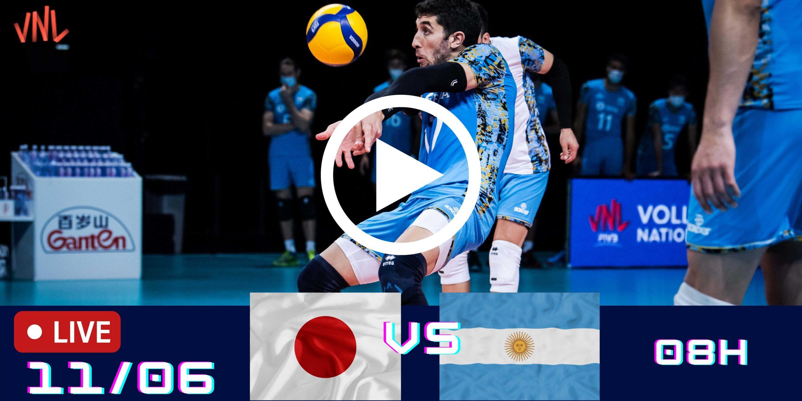 Japão 1 vs 3 Argentina – Liga das Nações Masculina – 11/06/2021